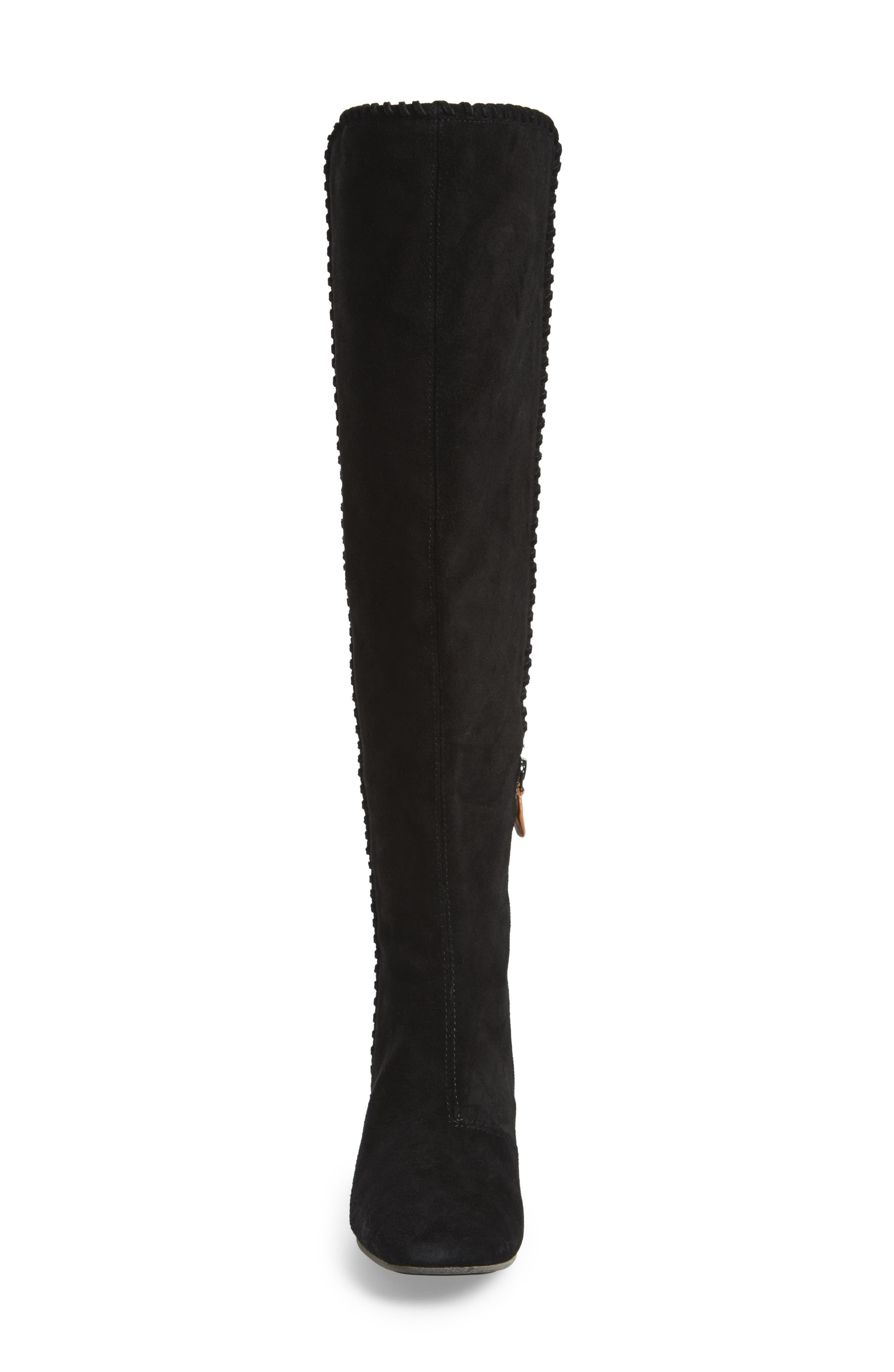 Emery Over the Knee Boot,                             Alternate thumbnail 4, color,                             001