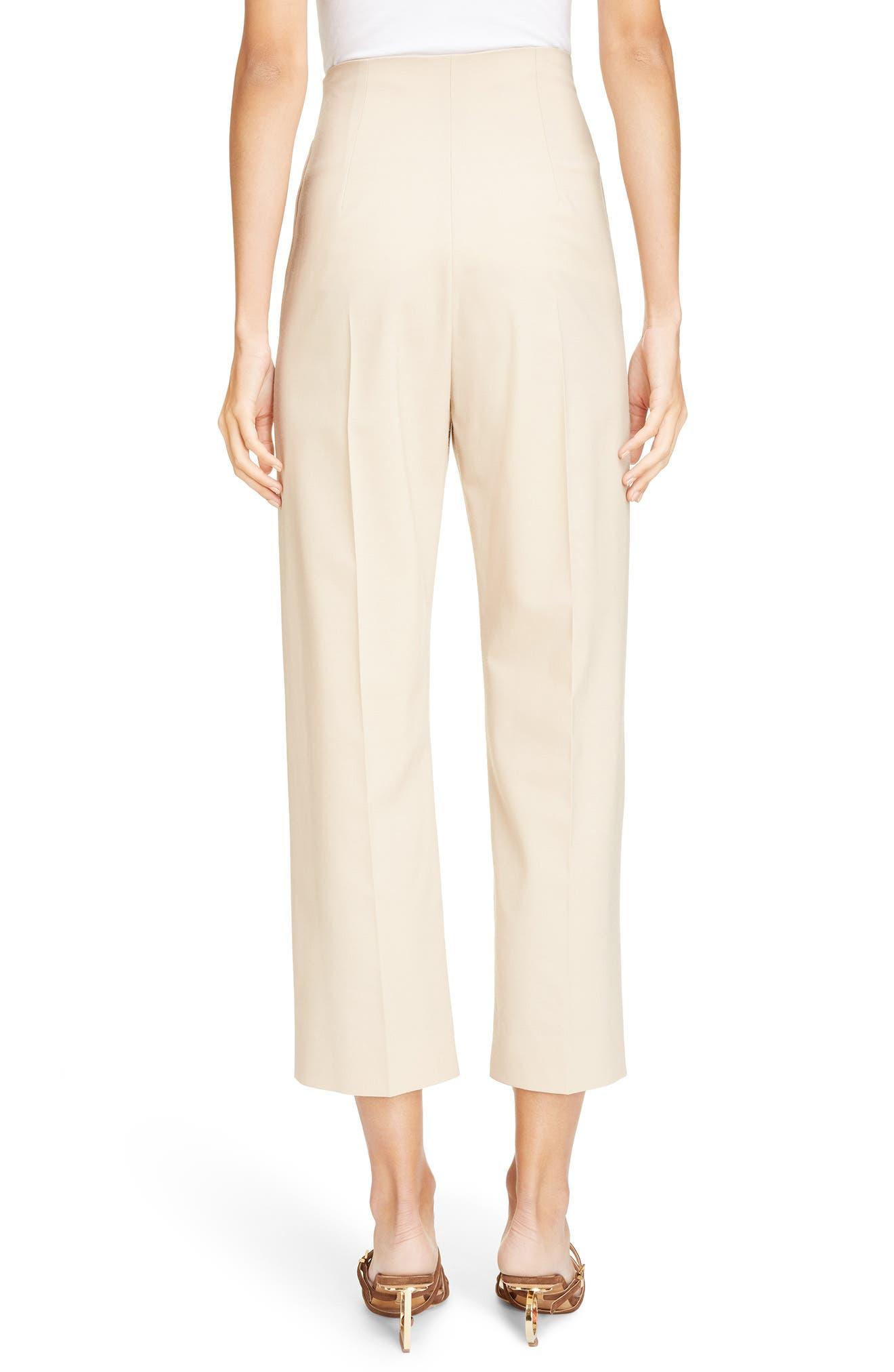 Le Pantalon Droit High Waist Crop Pants,                             Alternate thumbnail 2, color,                             250
