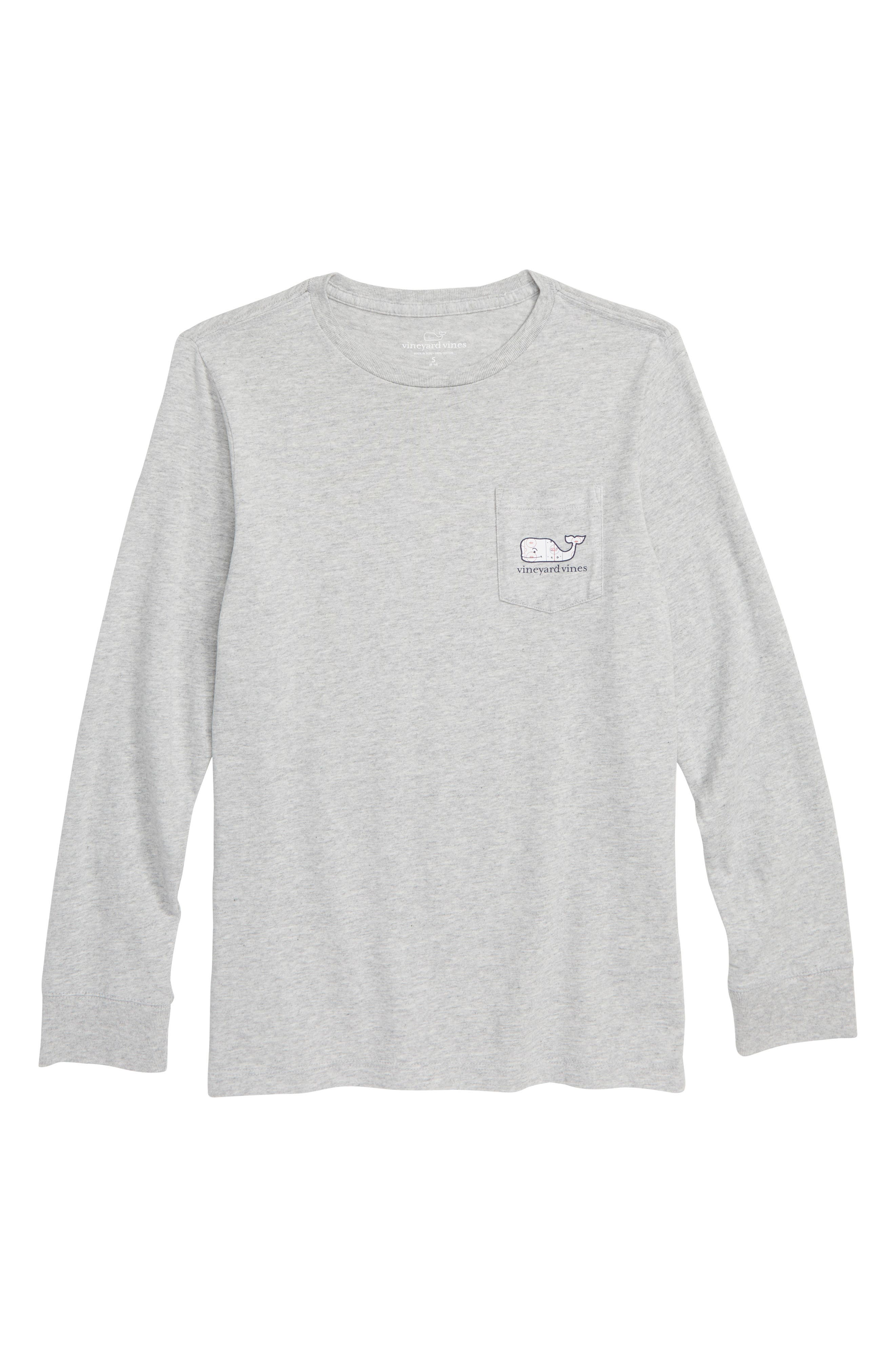 VINEYARD VINES Hockey Rink Whale Long Sleeve T-Shirt, Main, color, 039