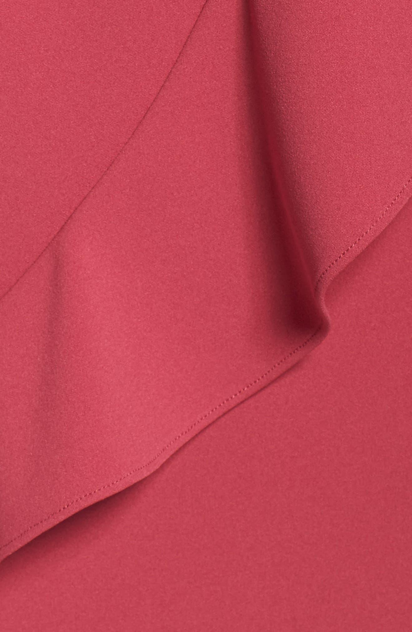Knit Crepe Drop Waist Dress,                             Alternate thumbnail 5, color,                             655