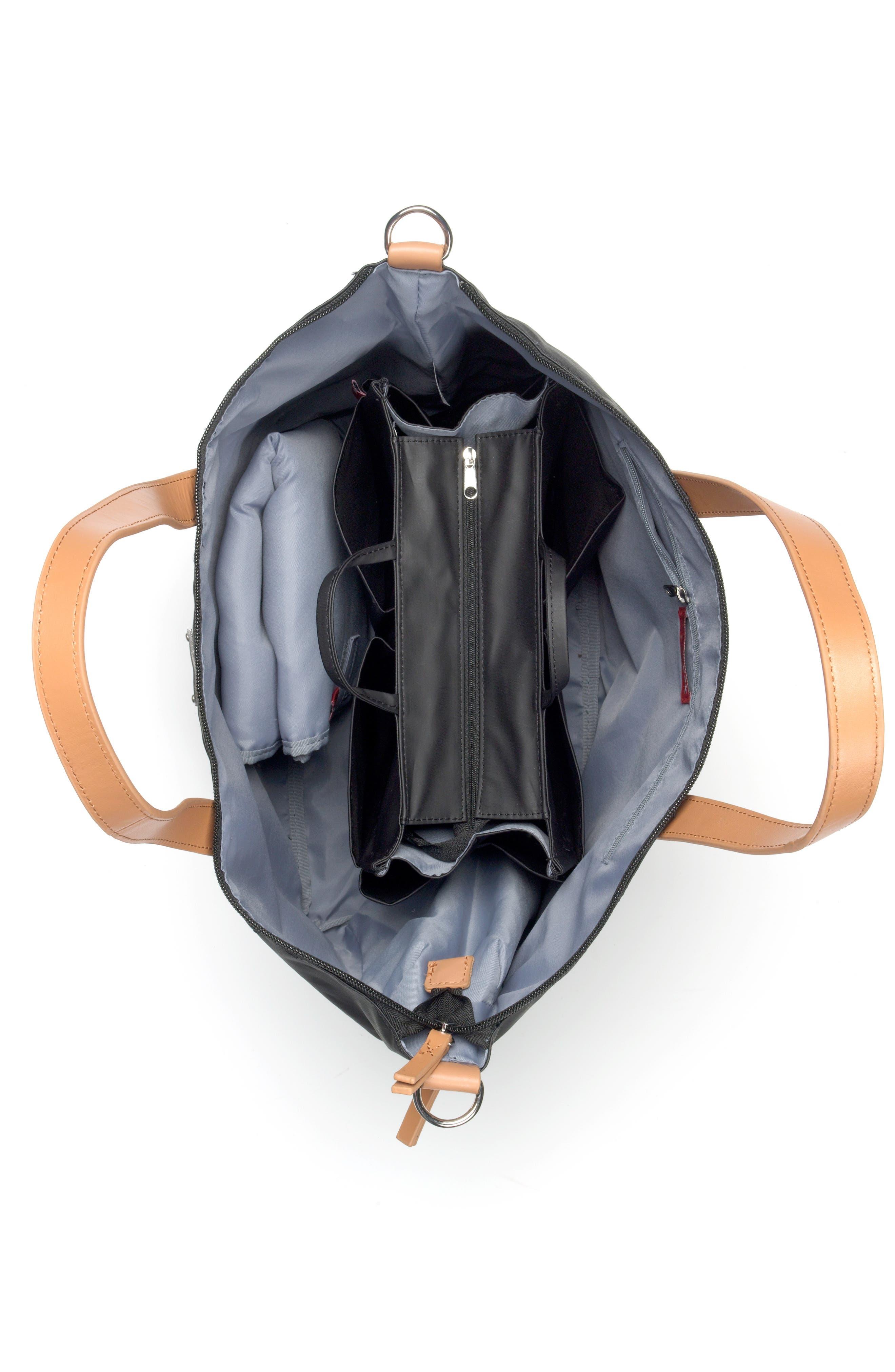 Noa Diaper Bag,                             Alternate thumbnail 7, color,                             BLACK