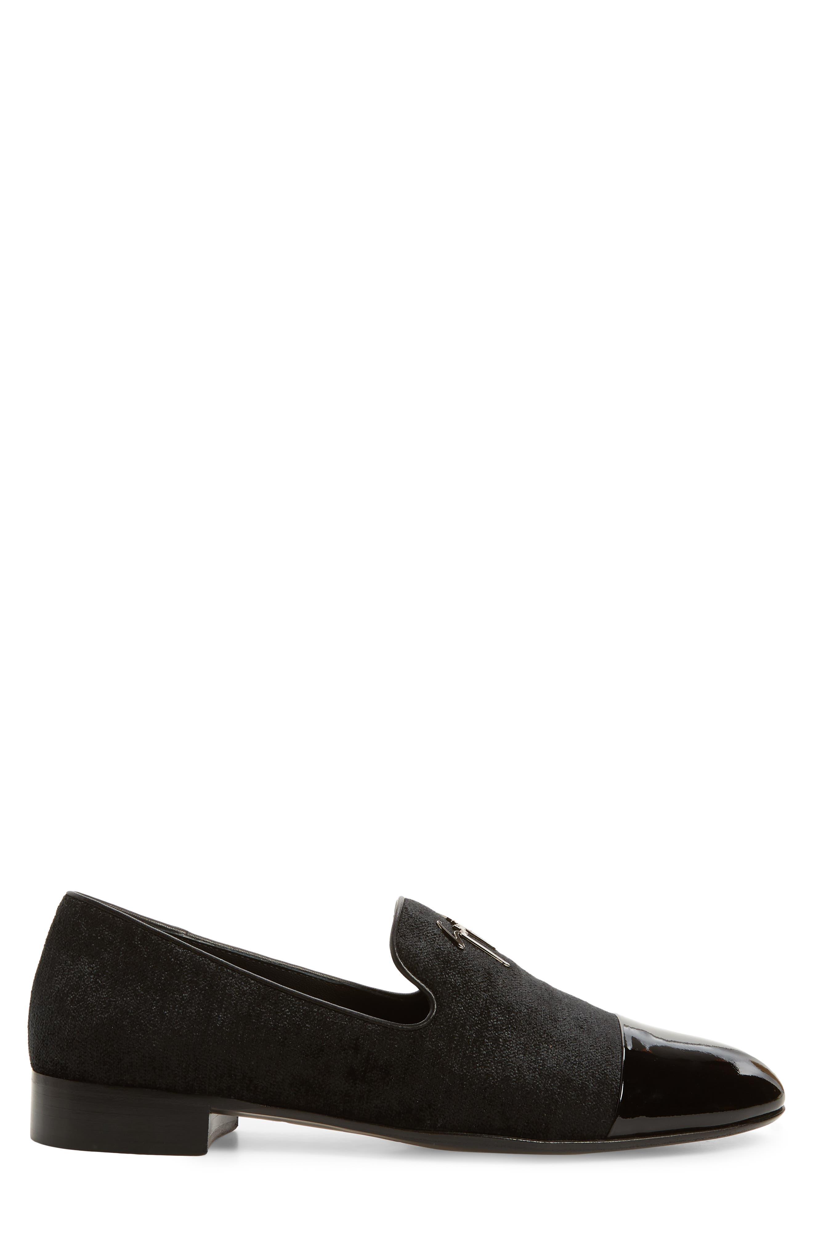 Tuxedo Loafer,                             Alternate thumbnail 3, color,                             BLACK