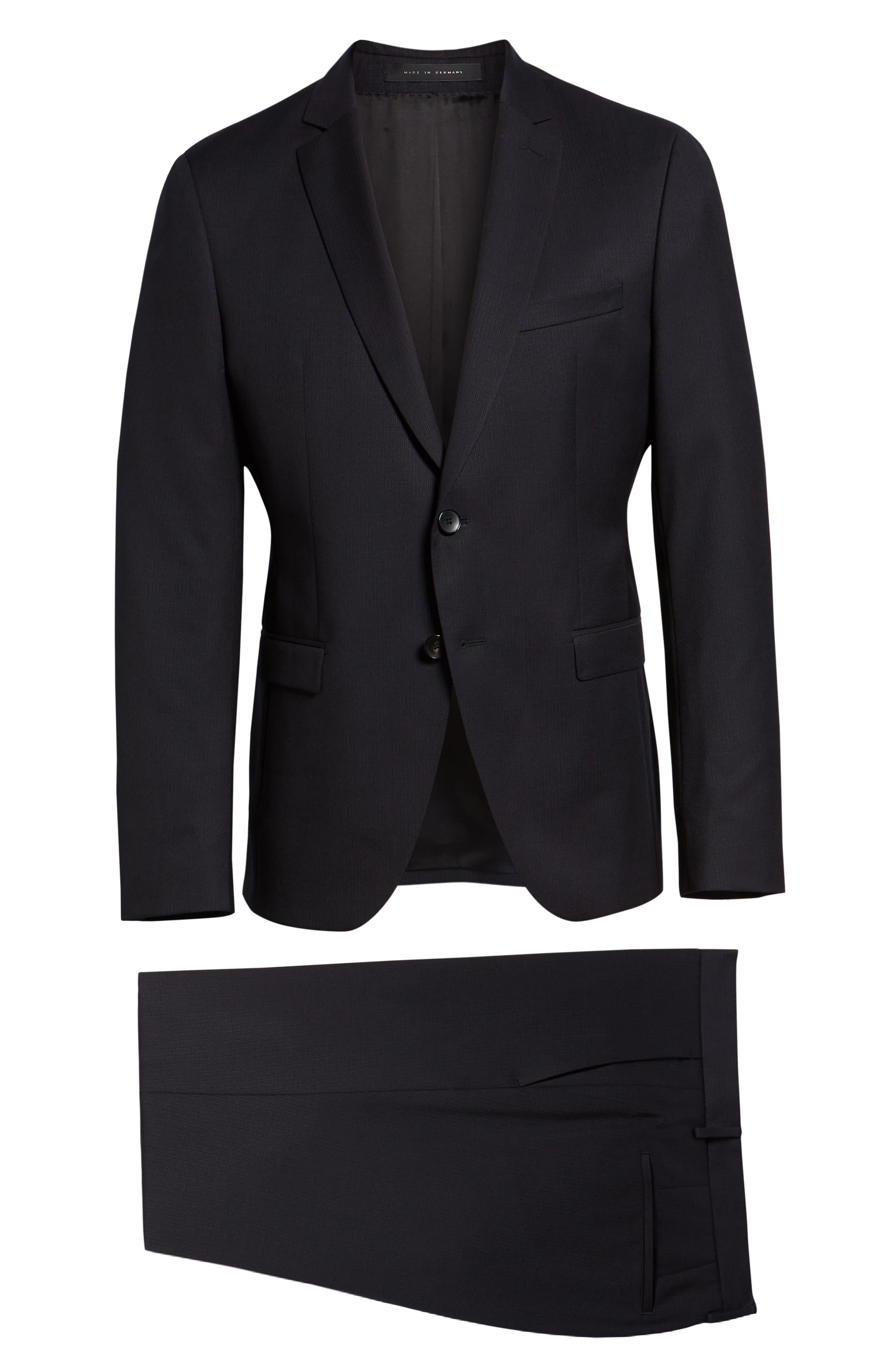 Reymond/Wenten Extra Trim Fit Solid Wool Suit,                             Alternate thumbnail 8, color,                             DARK PURPLE