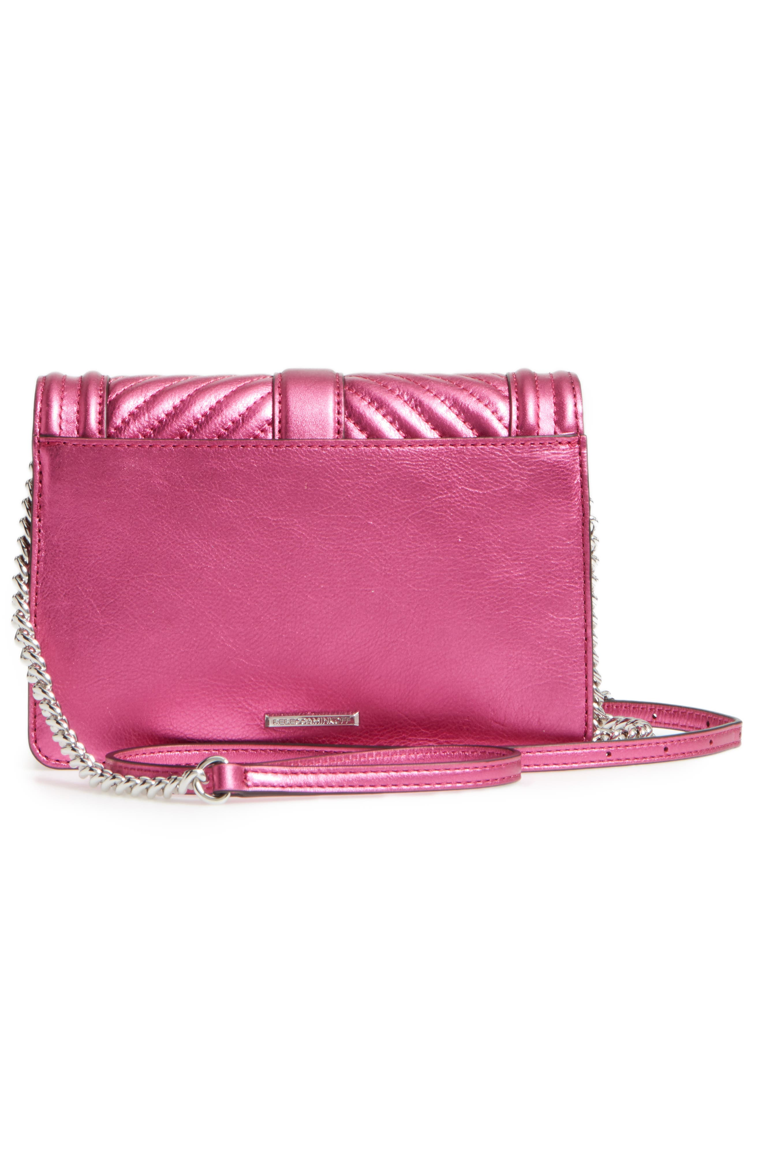 Small Love Metallic Leather Crossbody Bag,                             Alternate thumbnail 3, color,                             650