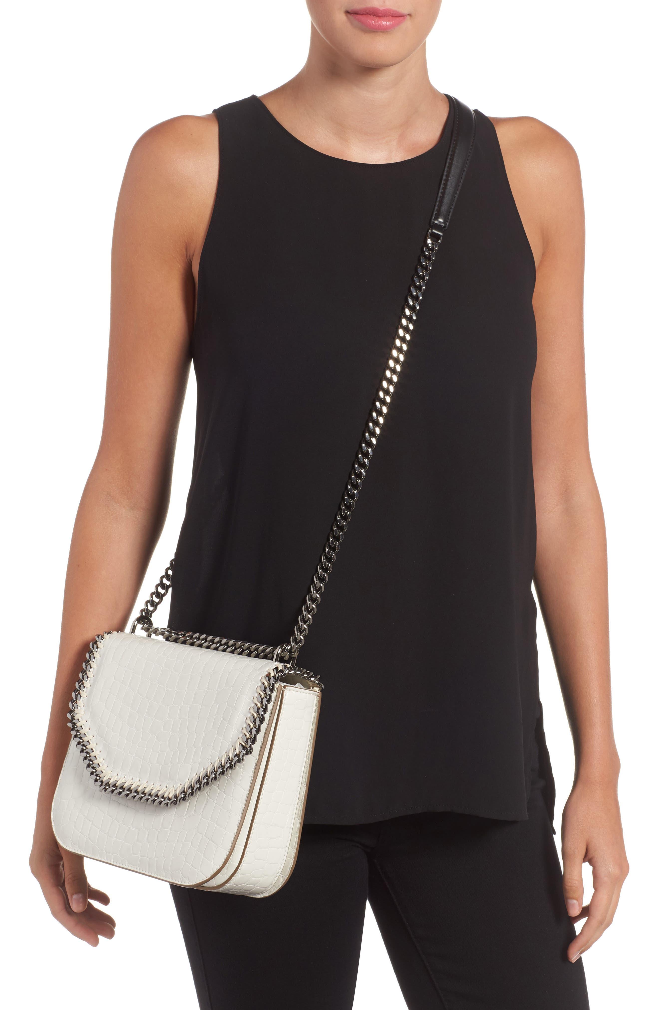 Falabella Box Faux Leather Shoulder Bag,                             Alternate thumbnail 4, color,