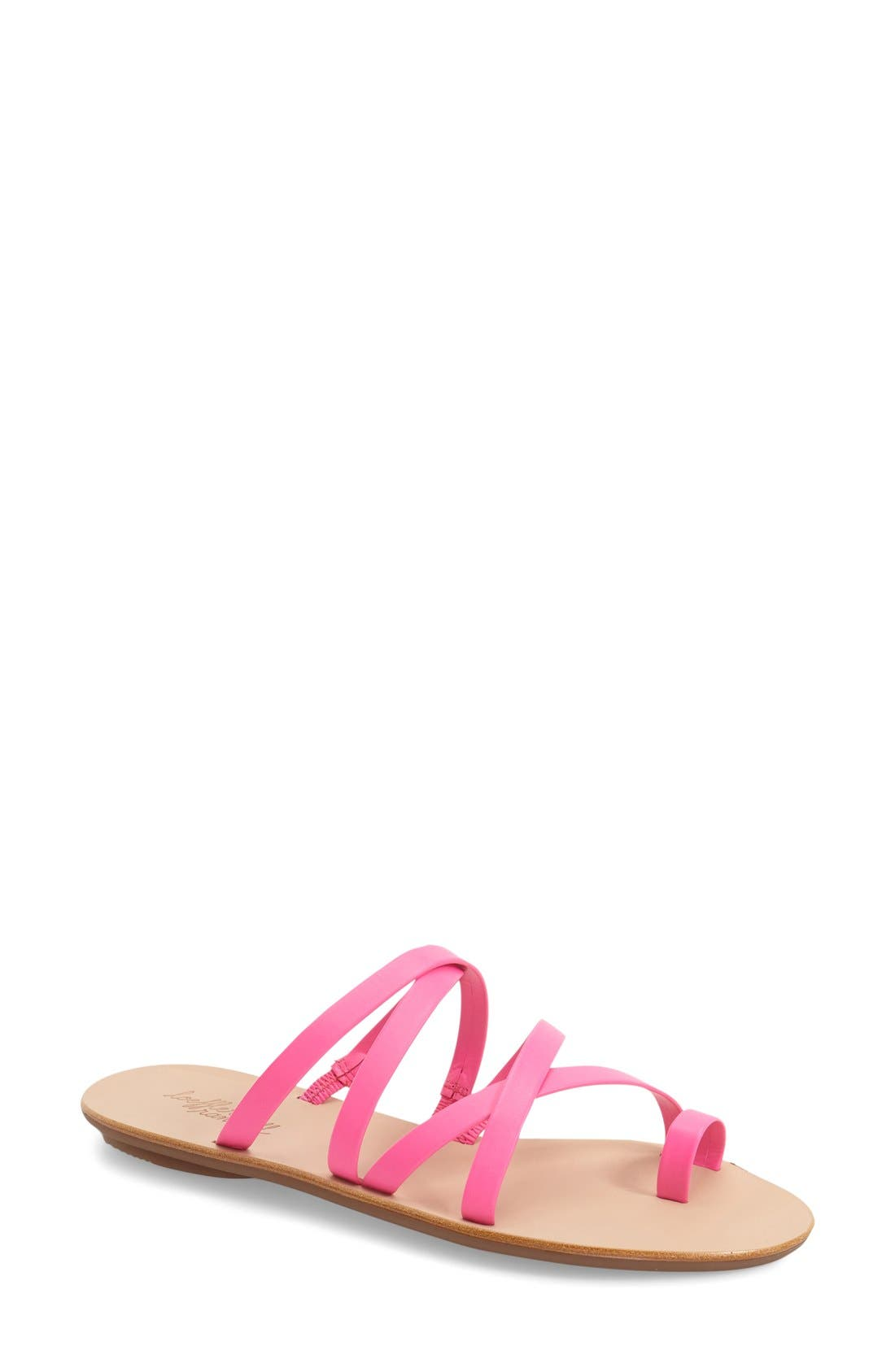 'Sarie' Strappy Flat Sandal,                             Main thumbnail 1, color,                             690