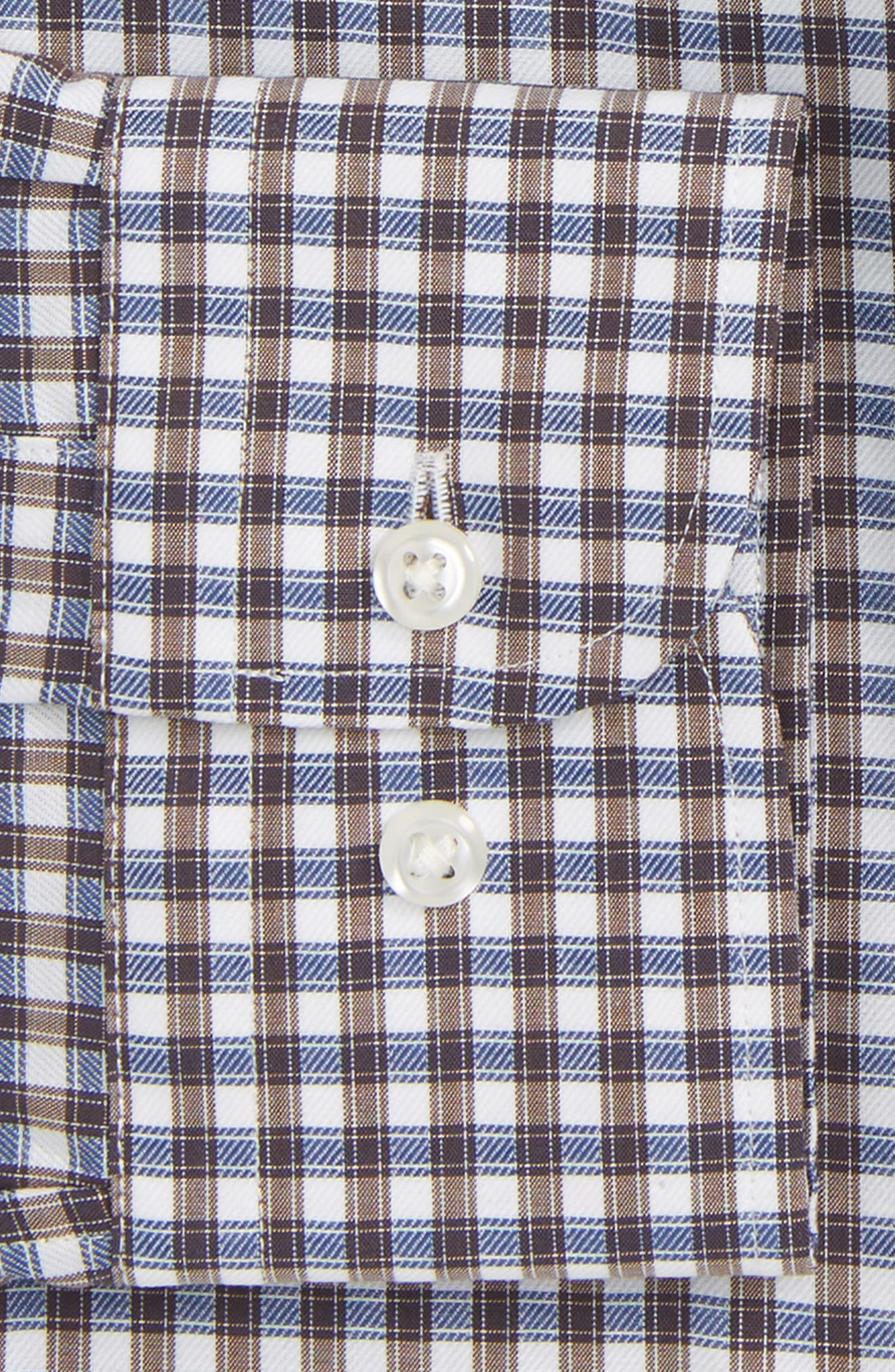 Traditional Fit Non-Iron Check Dress Shirt,                             Alternate thumbnail 6, color,                             210