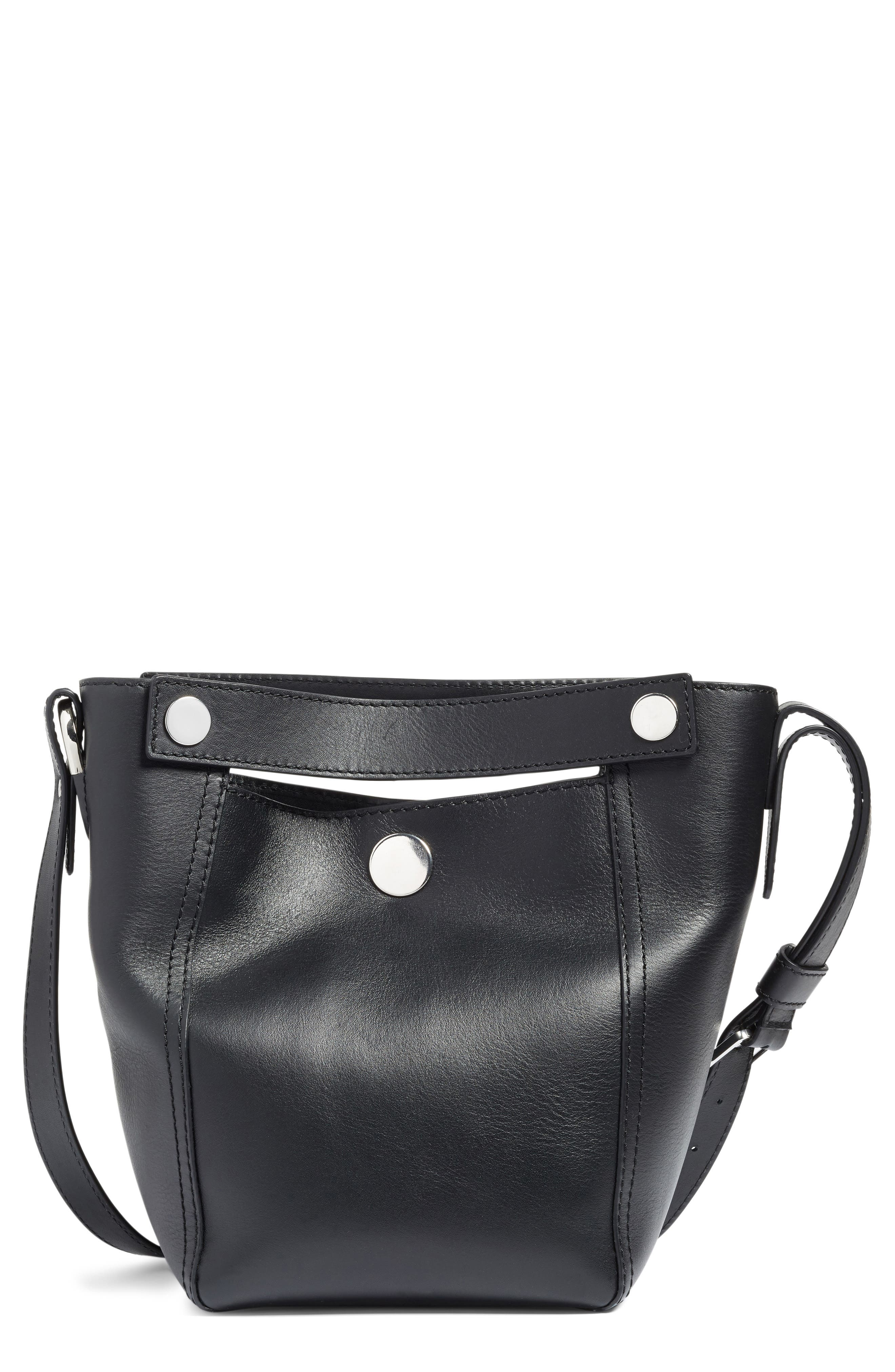 Small Dolly Leather Tote,                         Main,                         color, 001