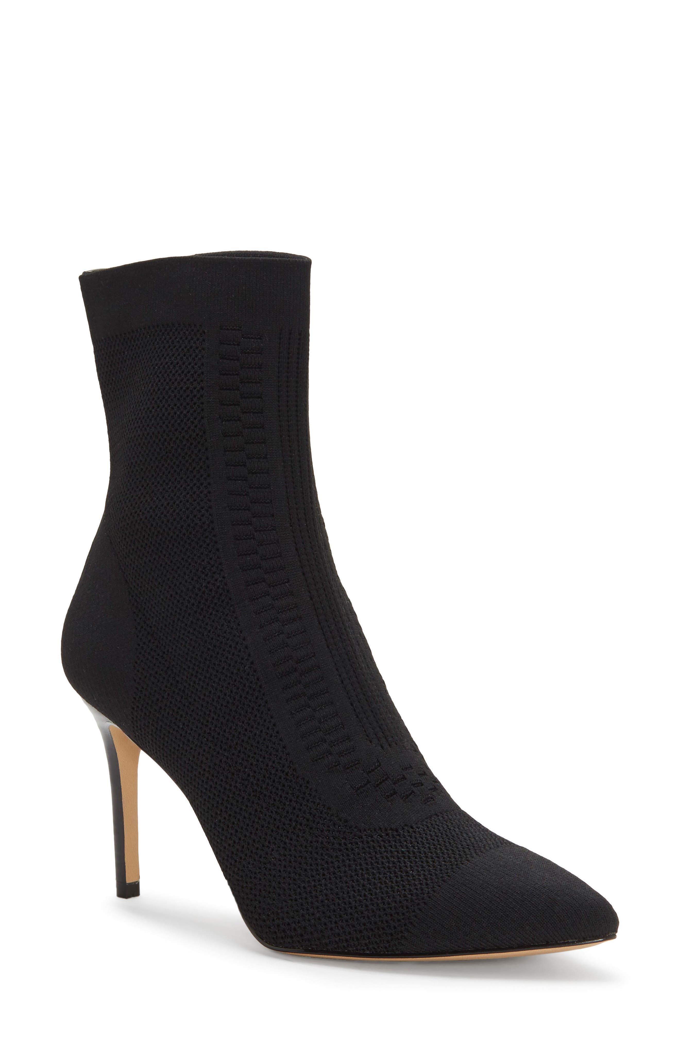 Silvya Sock Bootie, Main, color, BLACK