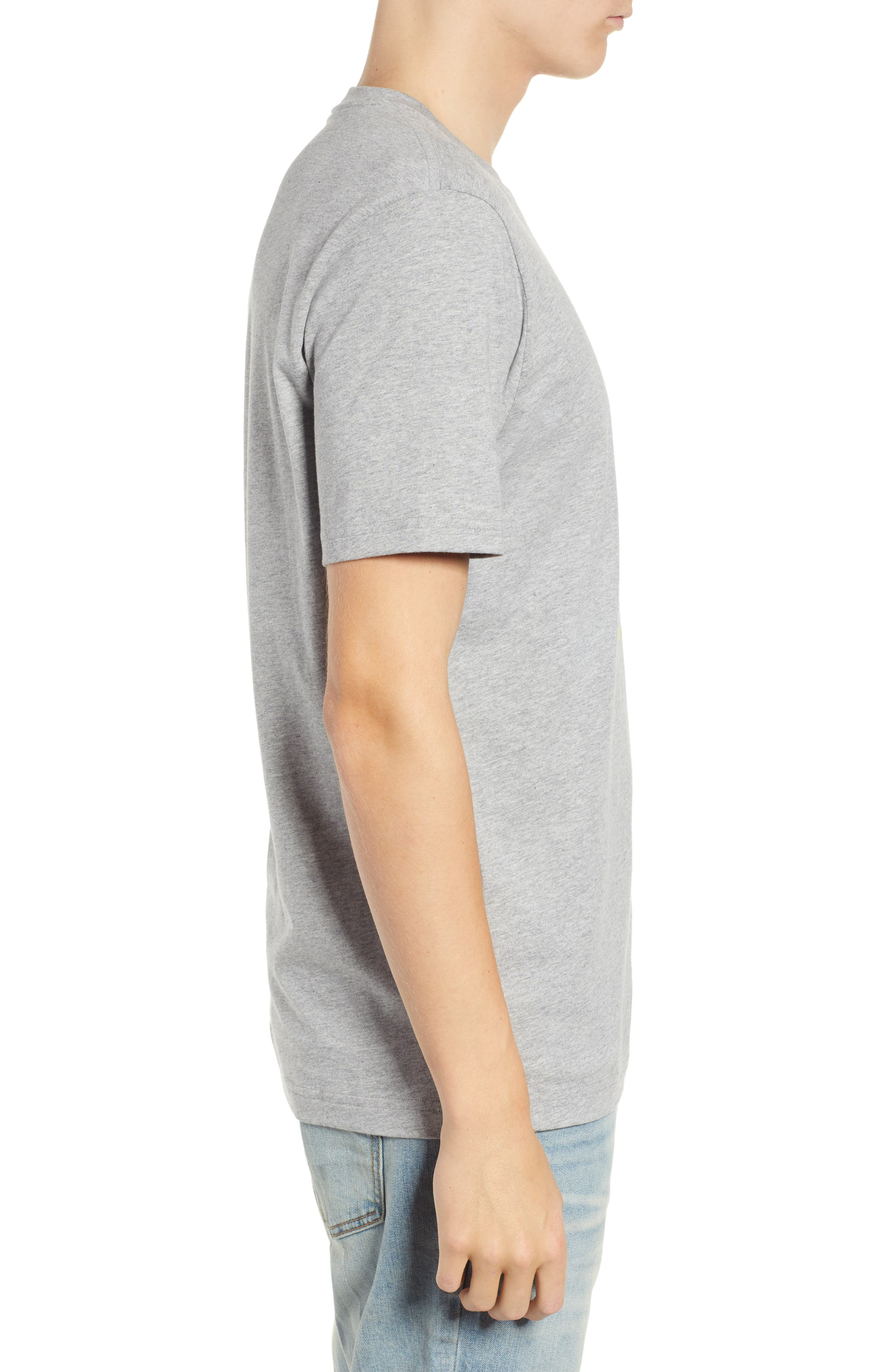 Graphic T-Shirt,                             Alternate thumbnail 3, color,                             HEATHER GREY