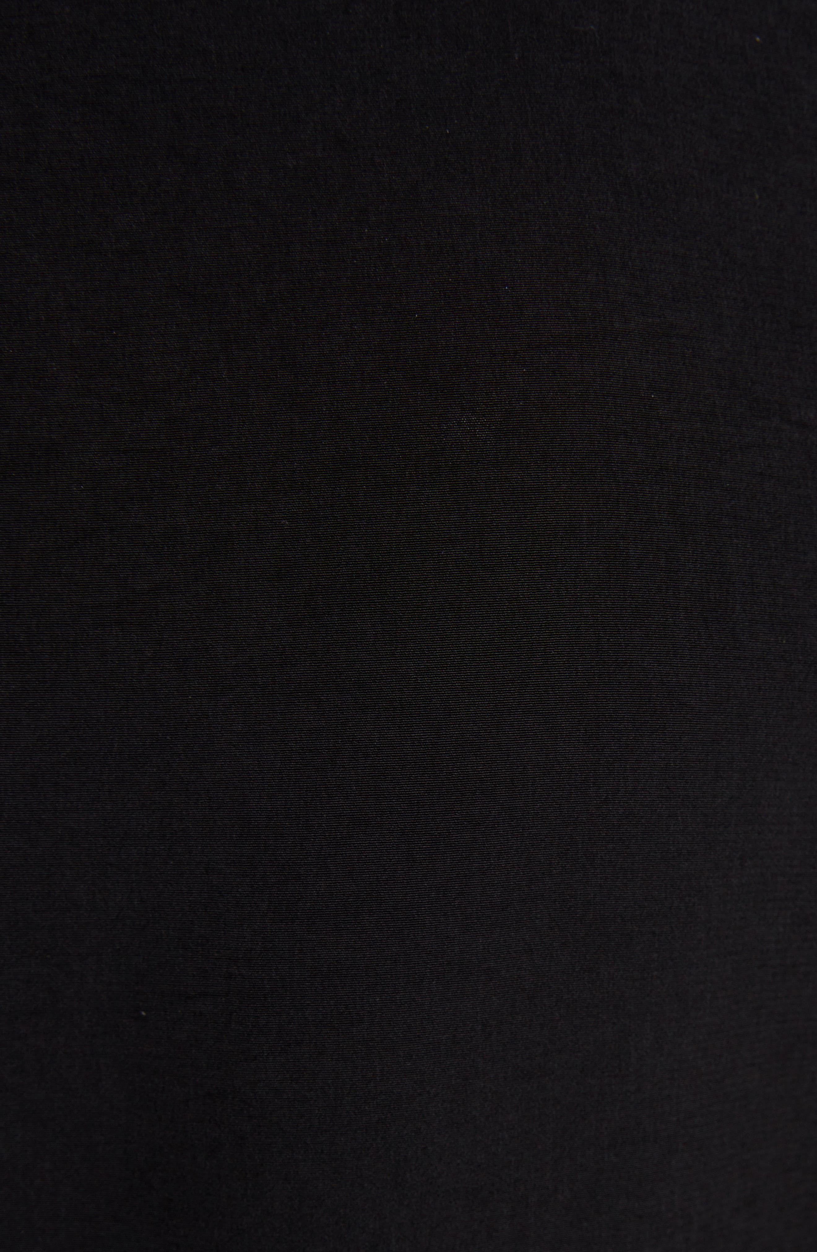 Asymmetrical Peplum Jacket,                             Alternate thumbnail 5, color,                             BLACK