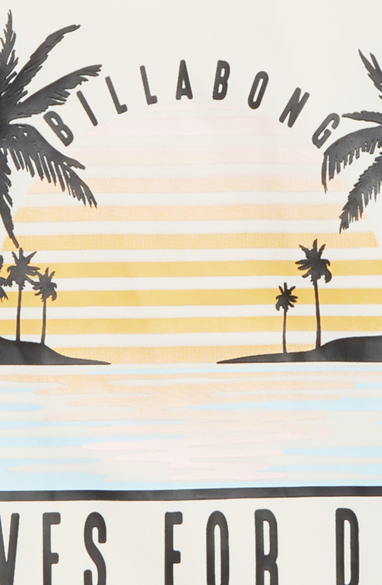 Waves for Days Long Sleeve Rashguard,                             Alternate thumbnail 2, color,                             BLACK PEBBLE