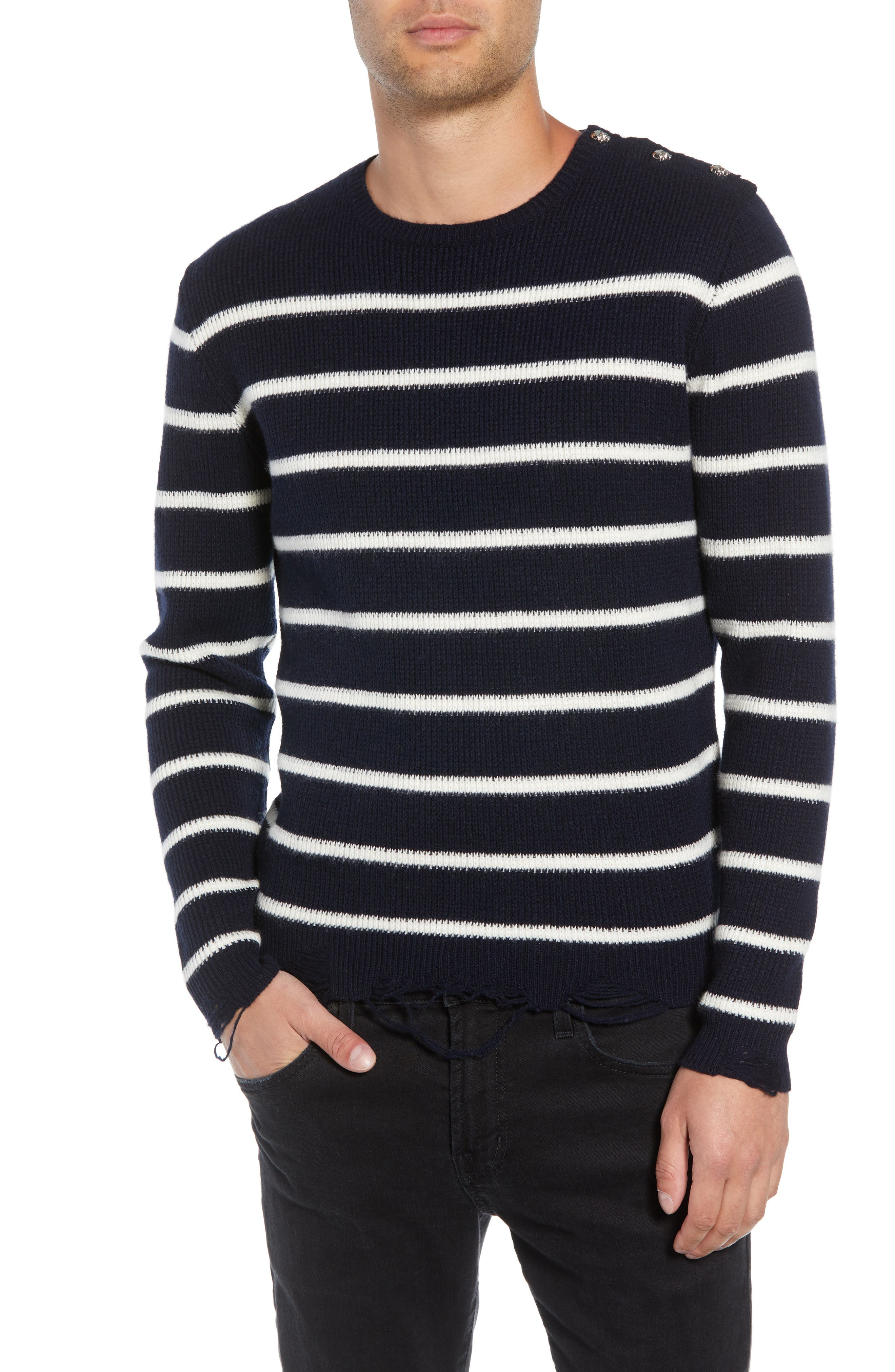 Regular Fit Striped Sweater,                             Main thumbnail 1, color,                             400