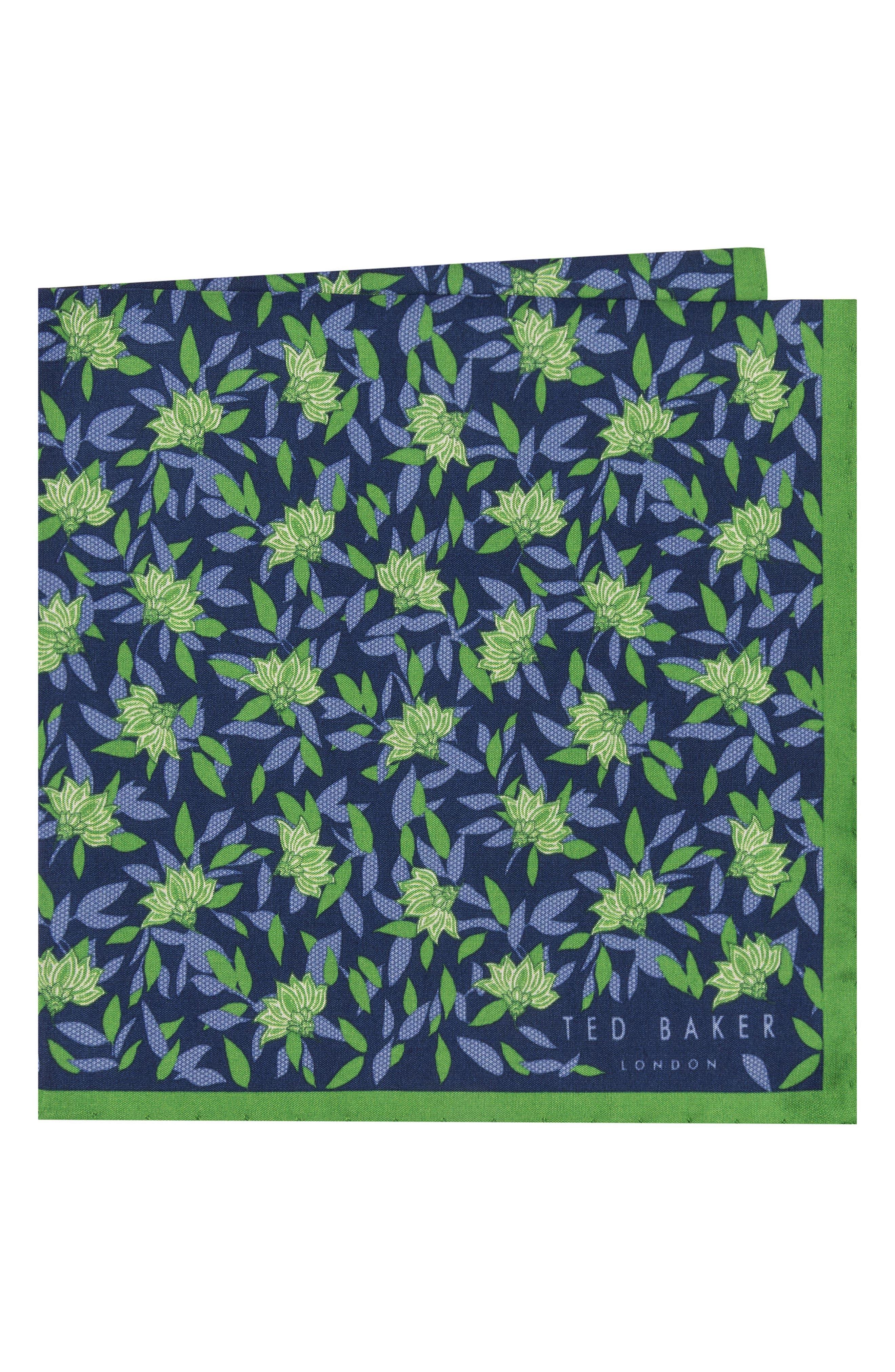 Botanical Silk Pocket Square,                             Main thumbnail 1, color,                             300