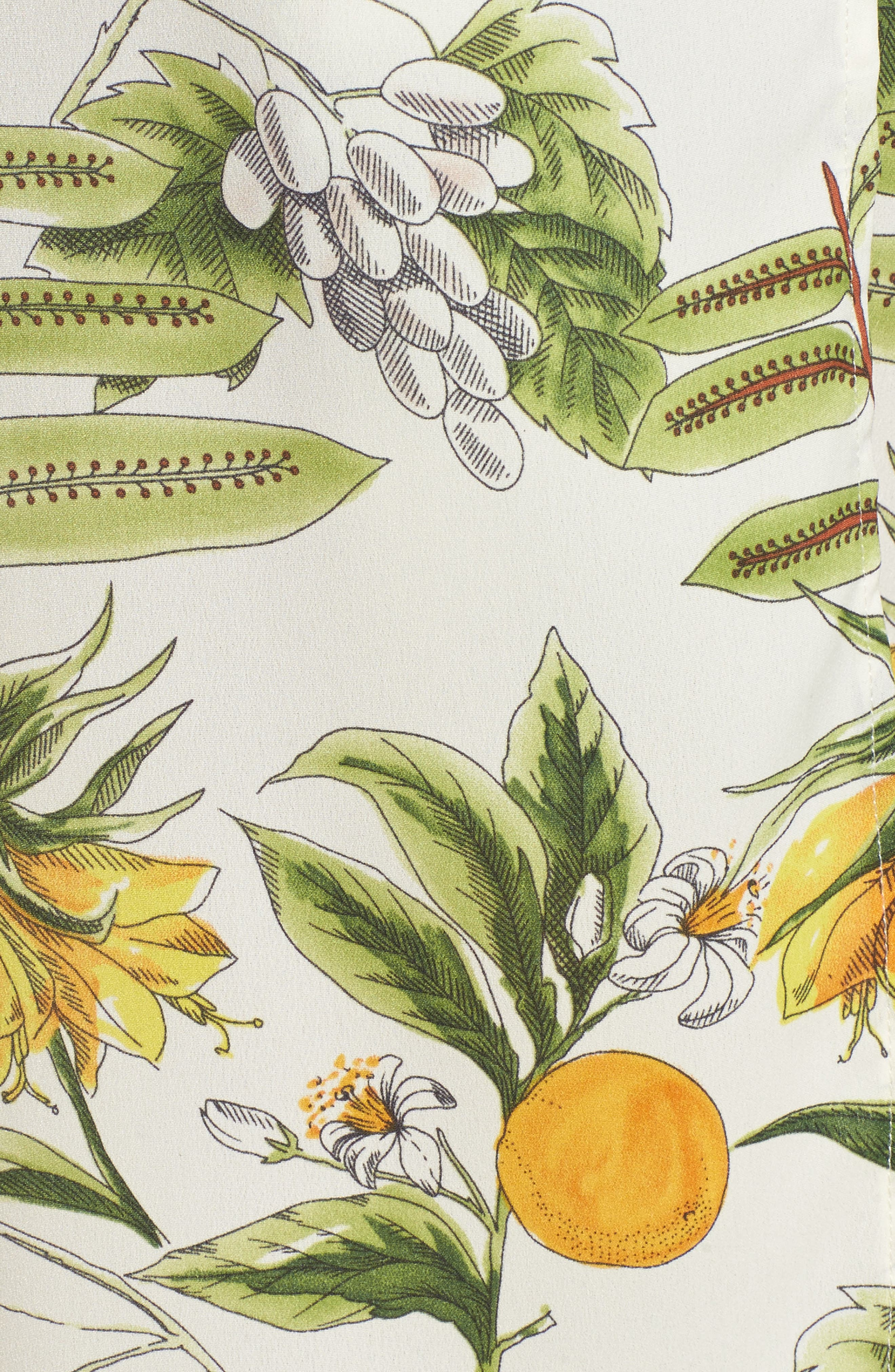 Limonada Citrus Print Split Culottes,                             Alternate thumbnail 5, color,                             901