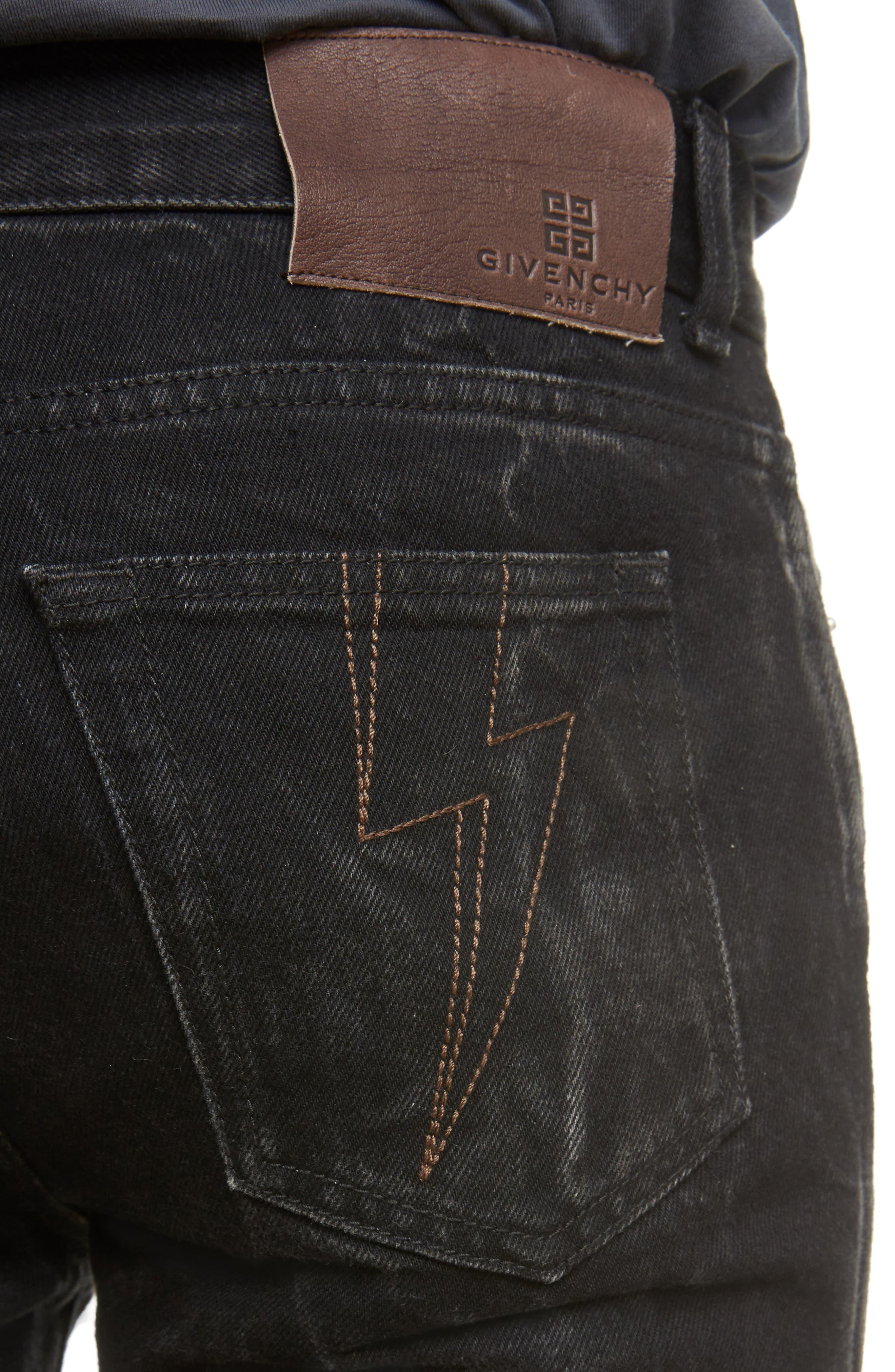 Slim Fit Vintage Wash Jeans,                             Alternate thumbnail 4, color,                             002