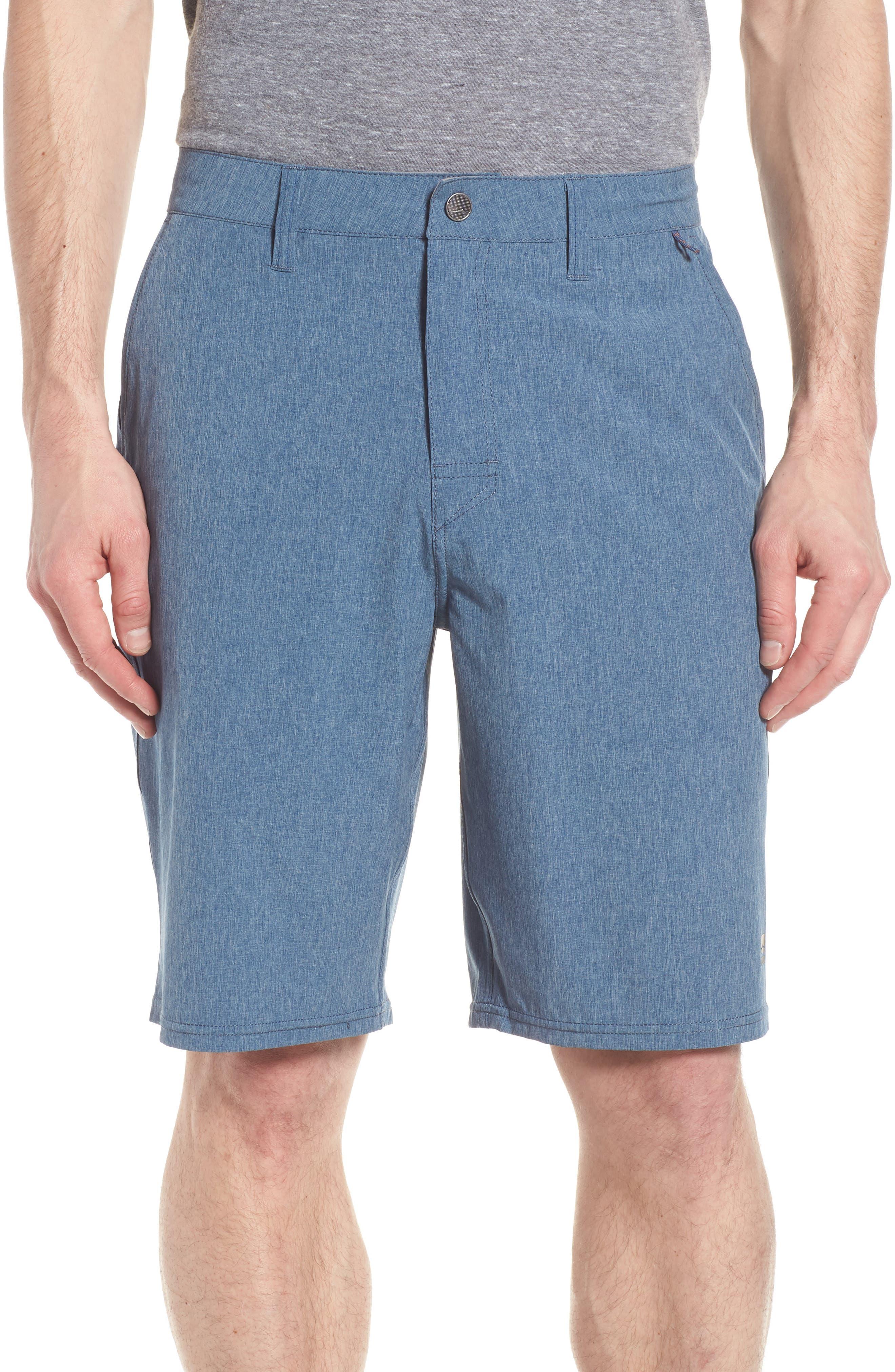 Salty Dog Hybrid Shorts,                             Main thumbnail 1, color,                             DEEP SEA