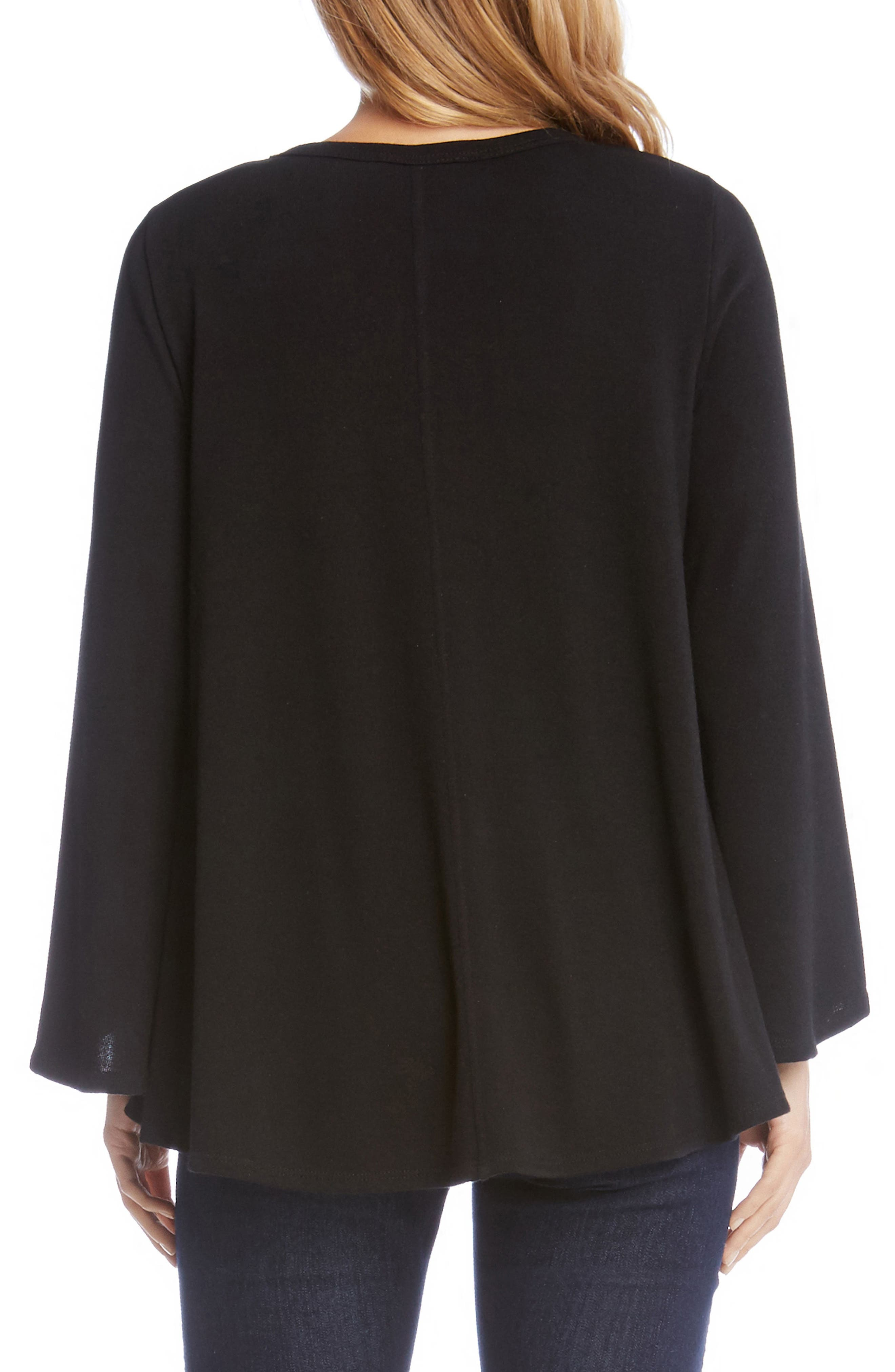 Bell Sleeve Swing Sweater,                             Alternate thumbnail 2, color,                             001