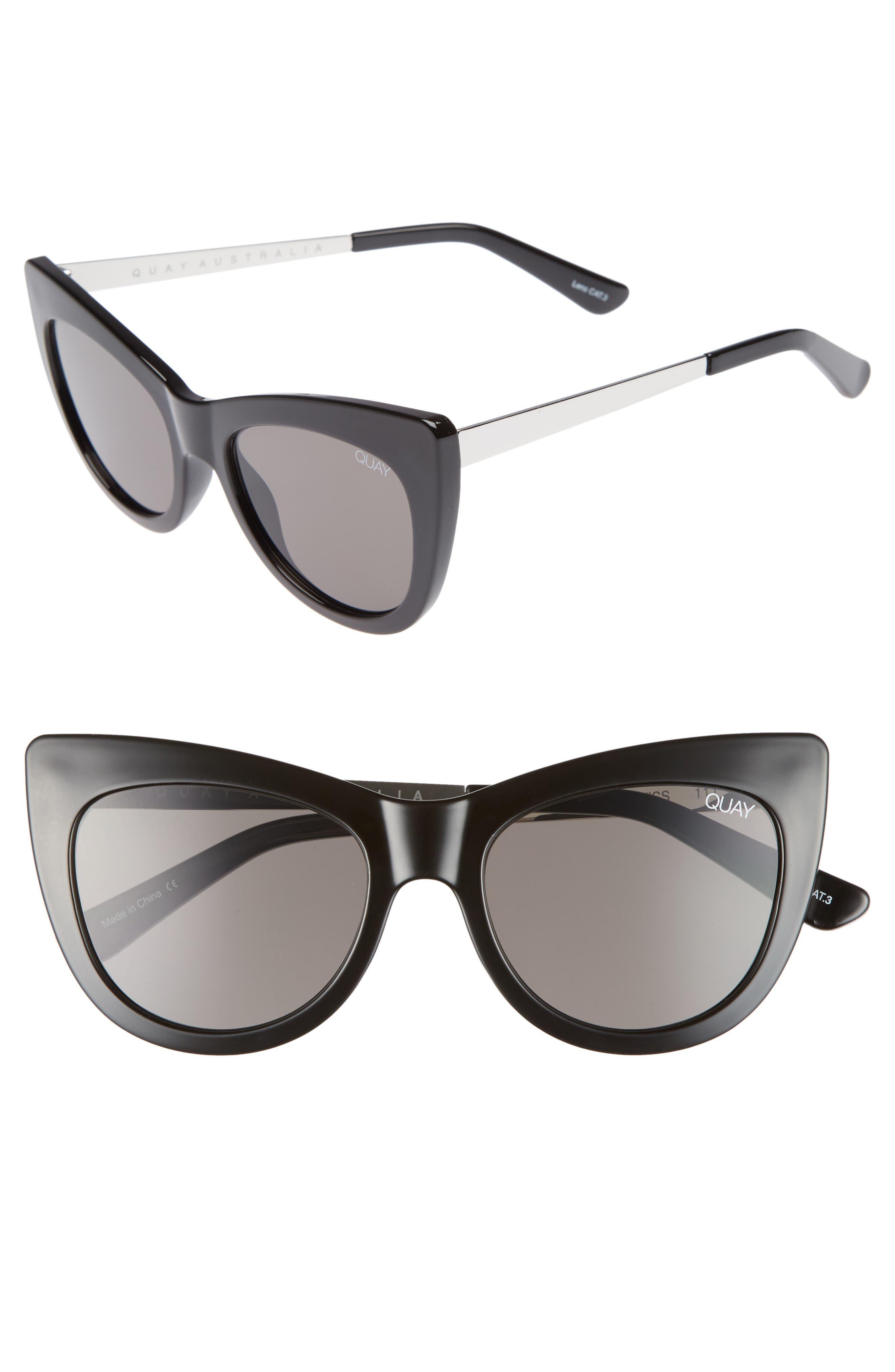 53mm Steal a Kiss Cat-eye Sunglasses,                             Main thumbnail 1, color,                             001