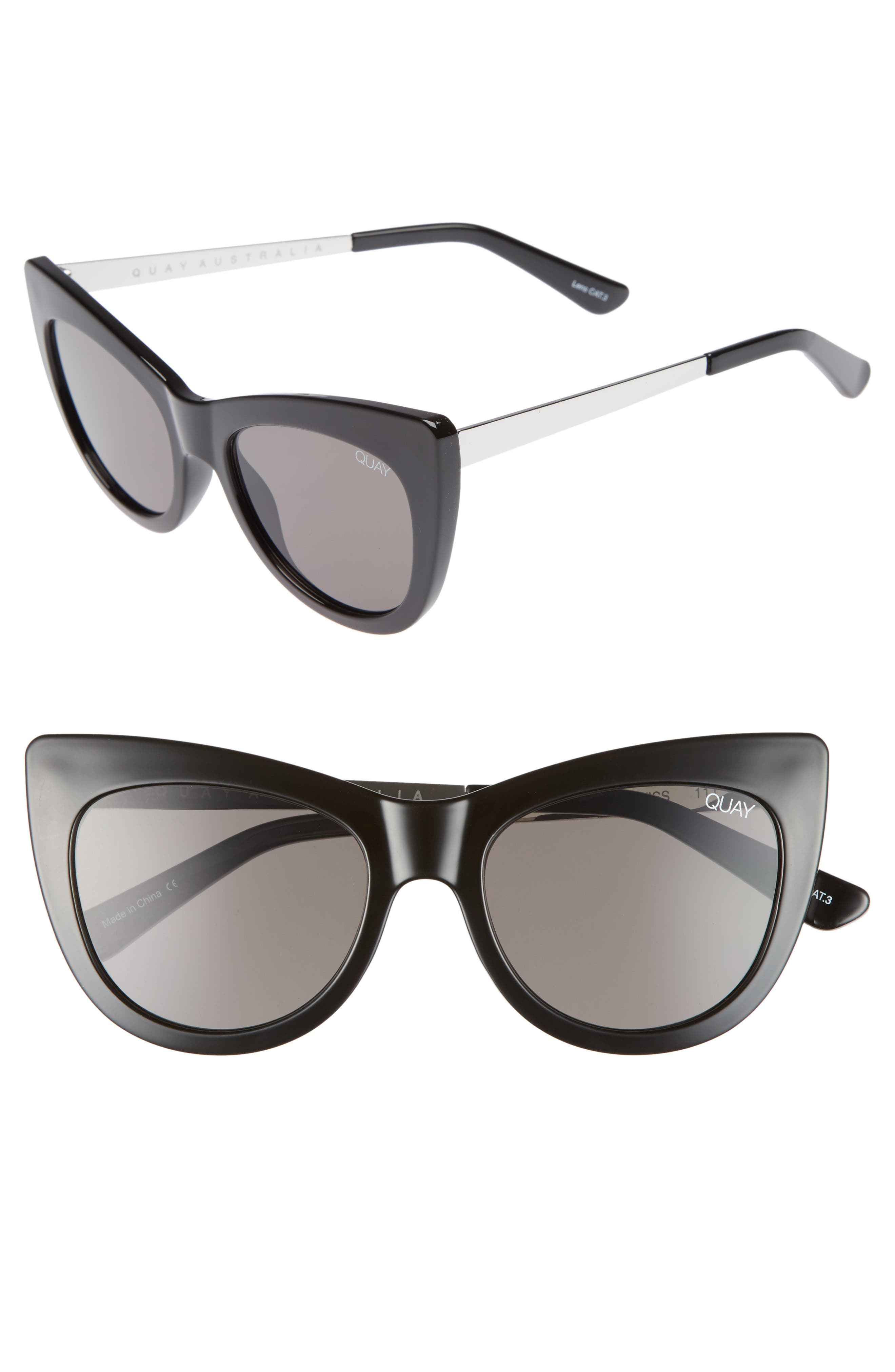 53mm Steal a Kiss Cat-eye Sunglasses,                         Main,                         color, 001