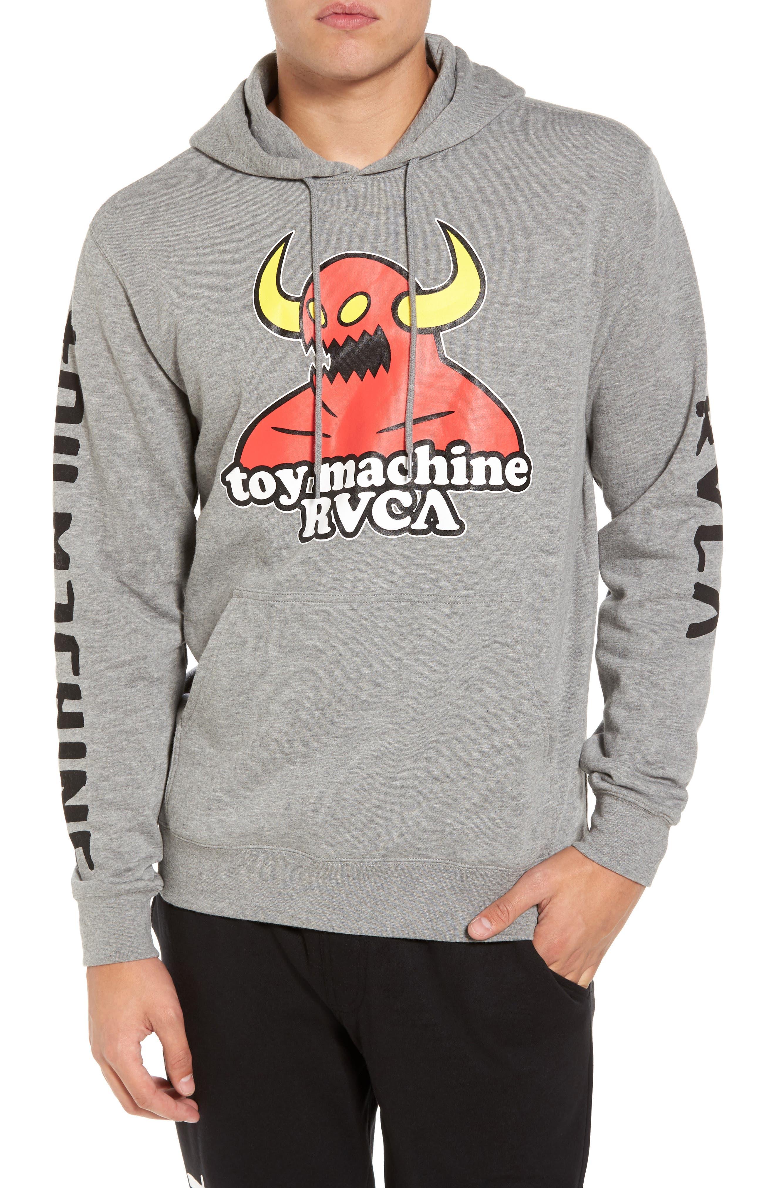 x Toy Machine Fleece Hoodie,                             Main thumbnail 1, color,                             030