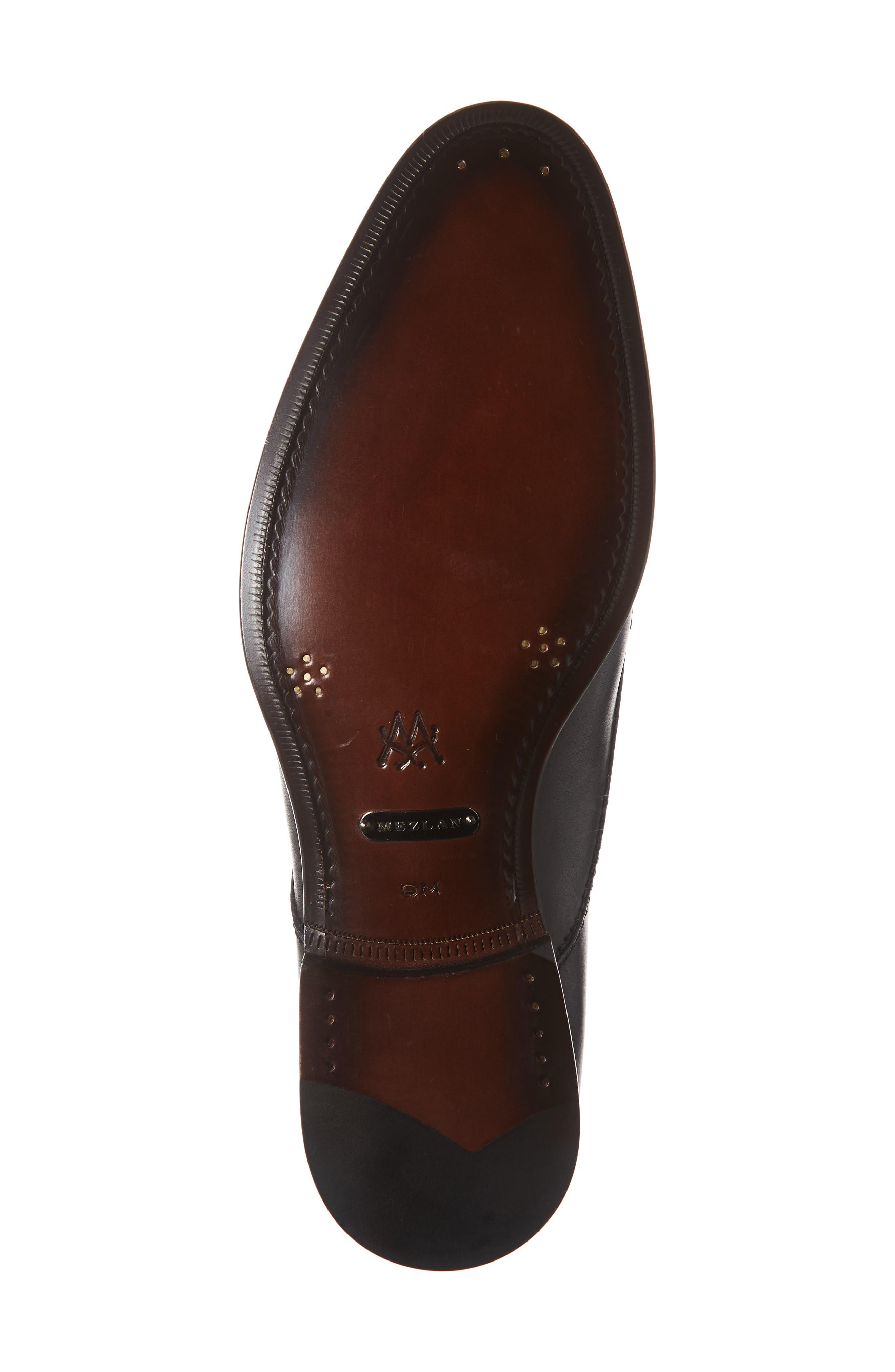 Acosta Double Strap Cap Toe Monk Shoe,                             Alternate thumbnail 6, color,                             BLACK LEATHER