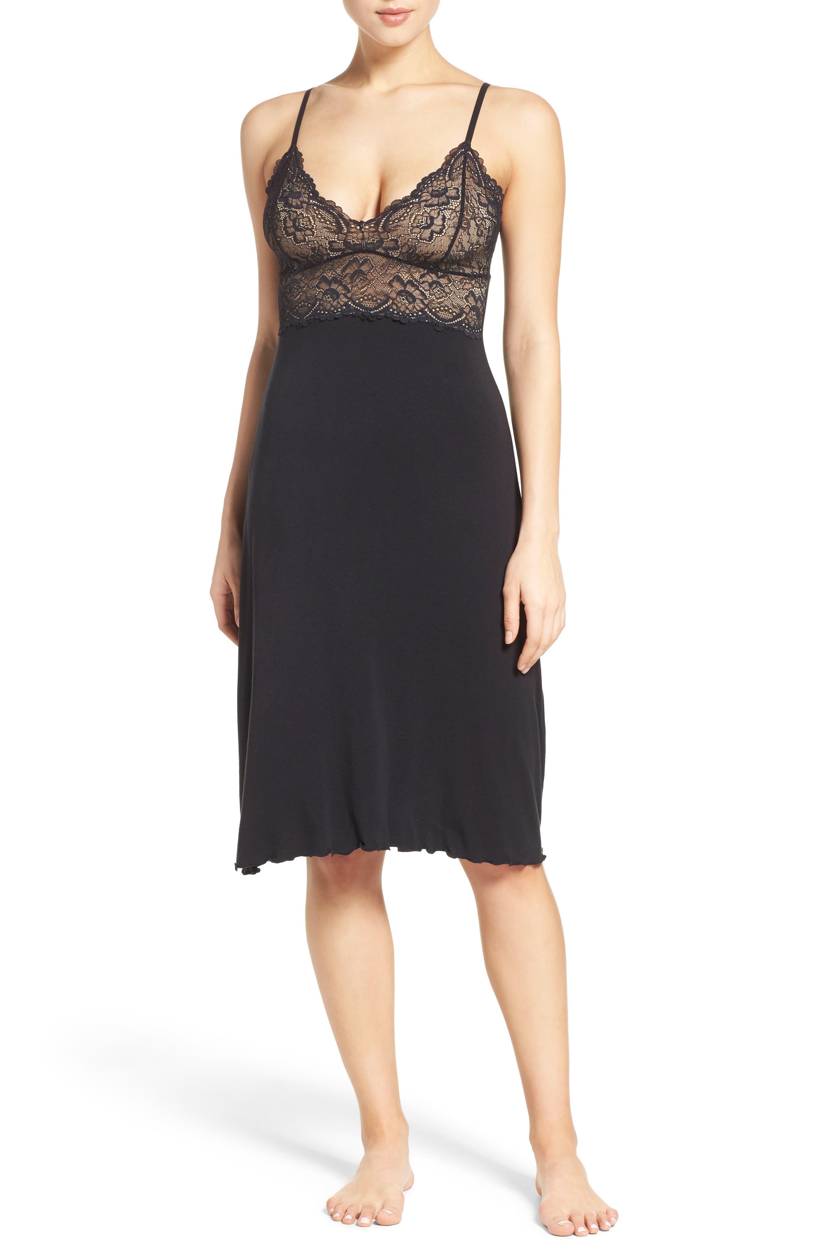 Ballet Nightgown,                         Main,                         color, BLACK/ BLACK