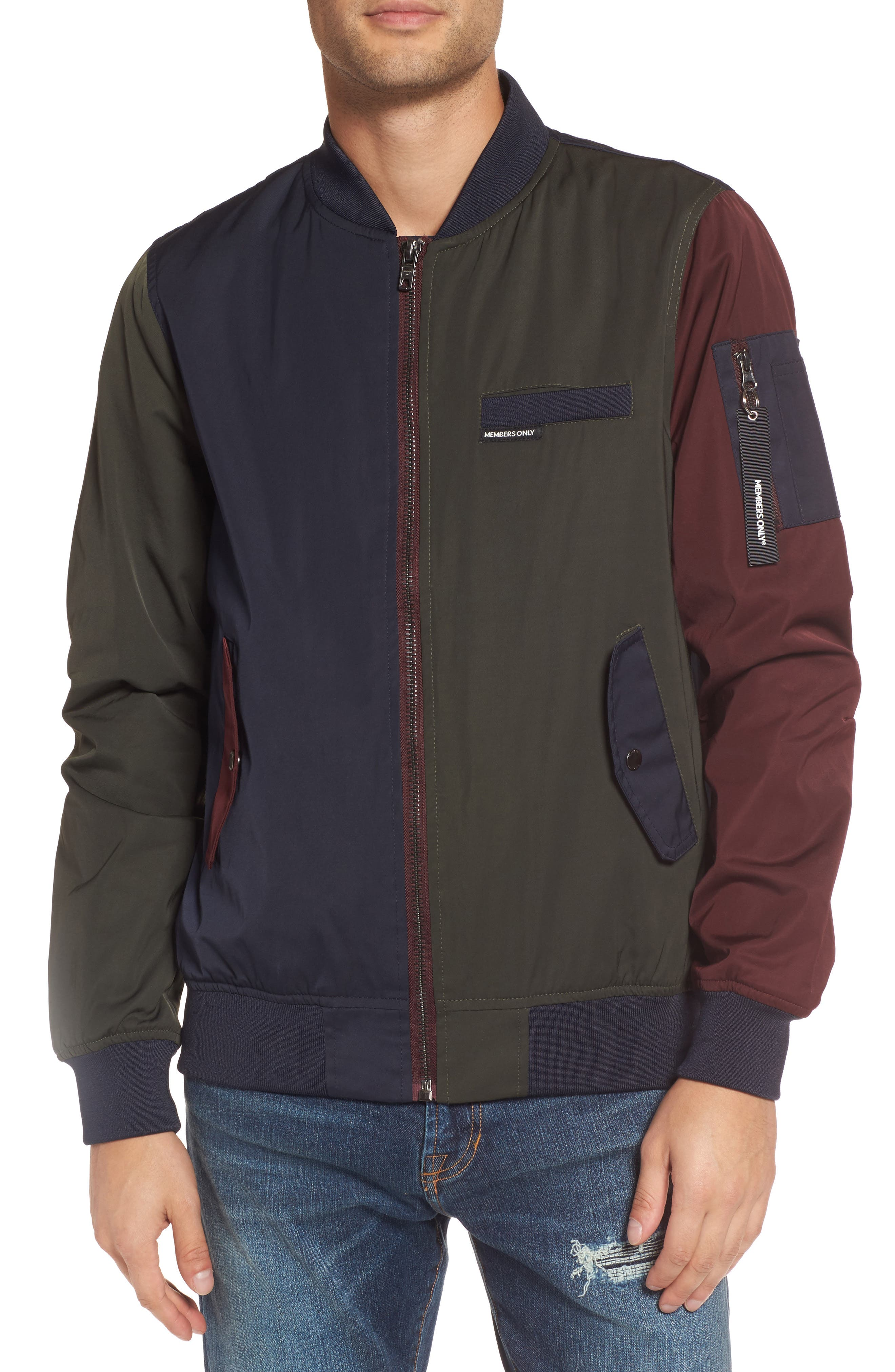 Colorblock Bomber Jacket,                         Main,                         color, 400