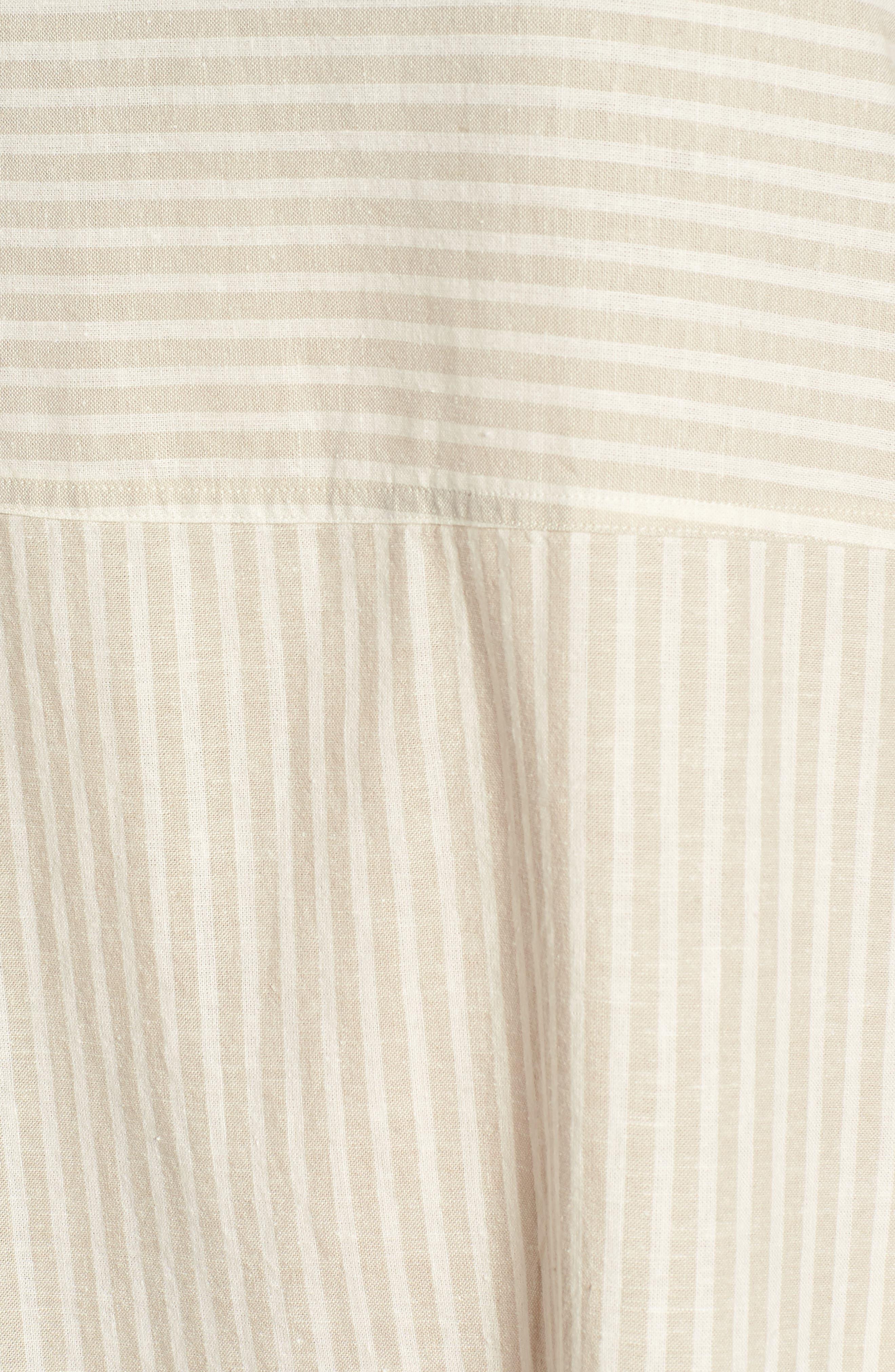 Varied Stripe Hemp & Organic Cotton Shift Dress,                             Alternate thumbnail 6, color,                             257