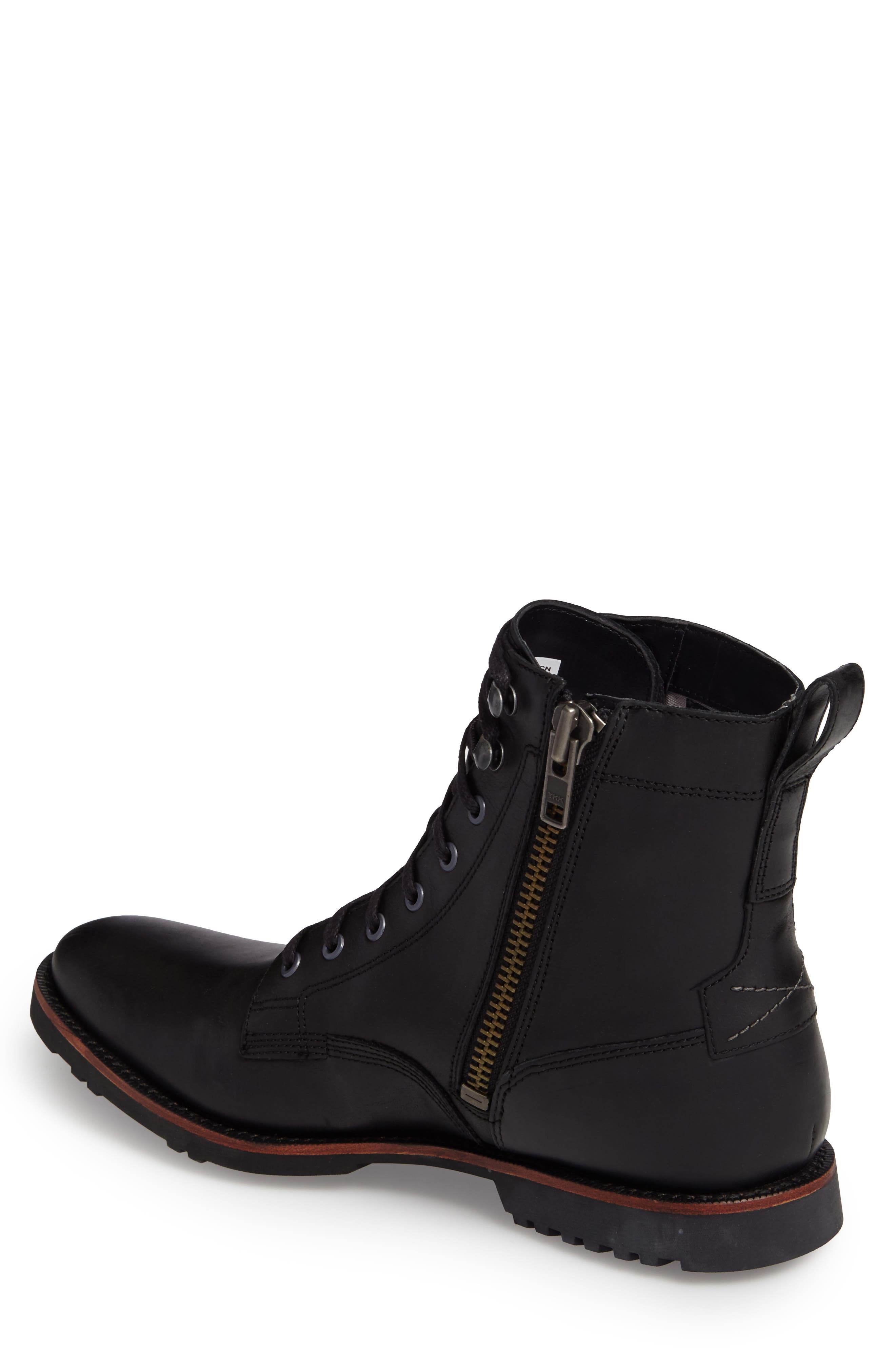 Kendrick Side Zip Leather Boot,                             Alternate thumbnail 2, color,                             001
