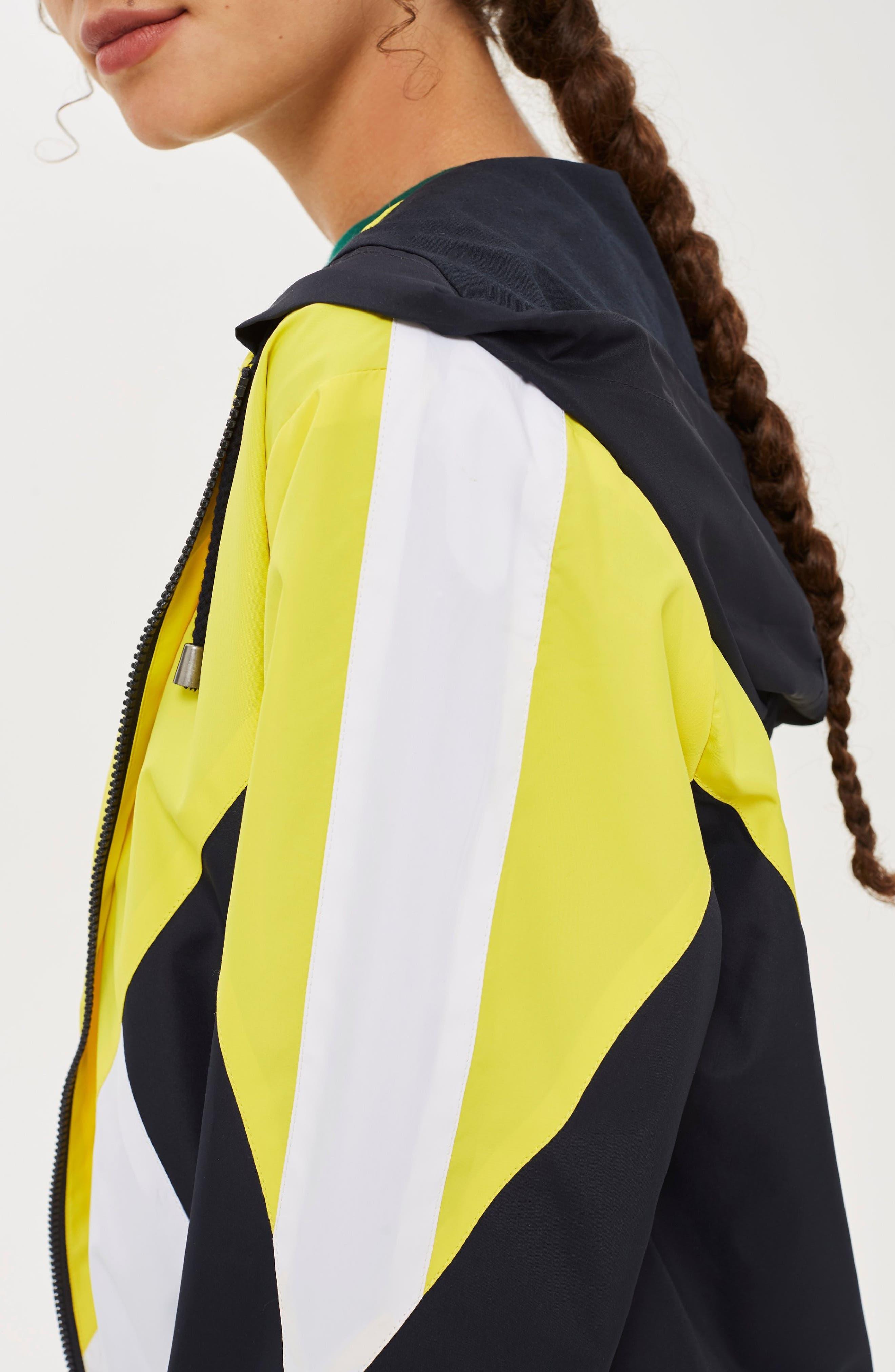 Texas Colorblock Windbreaker Jacket,                             Alternate thumbnail 7, color,                             YELLOW MULTI