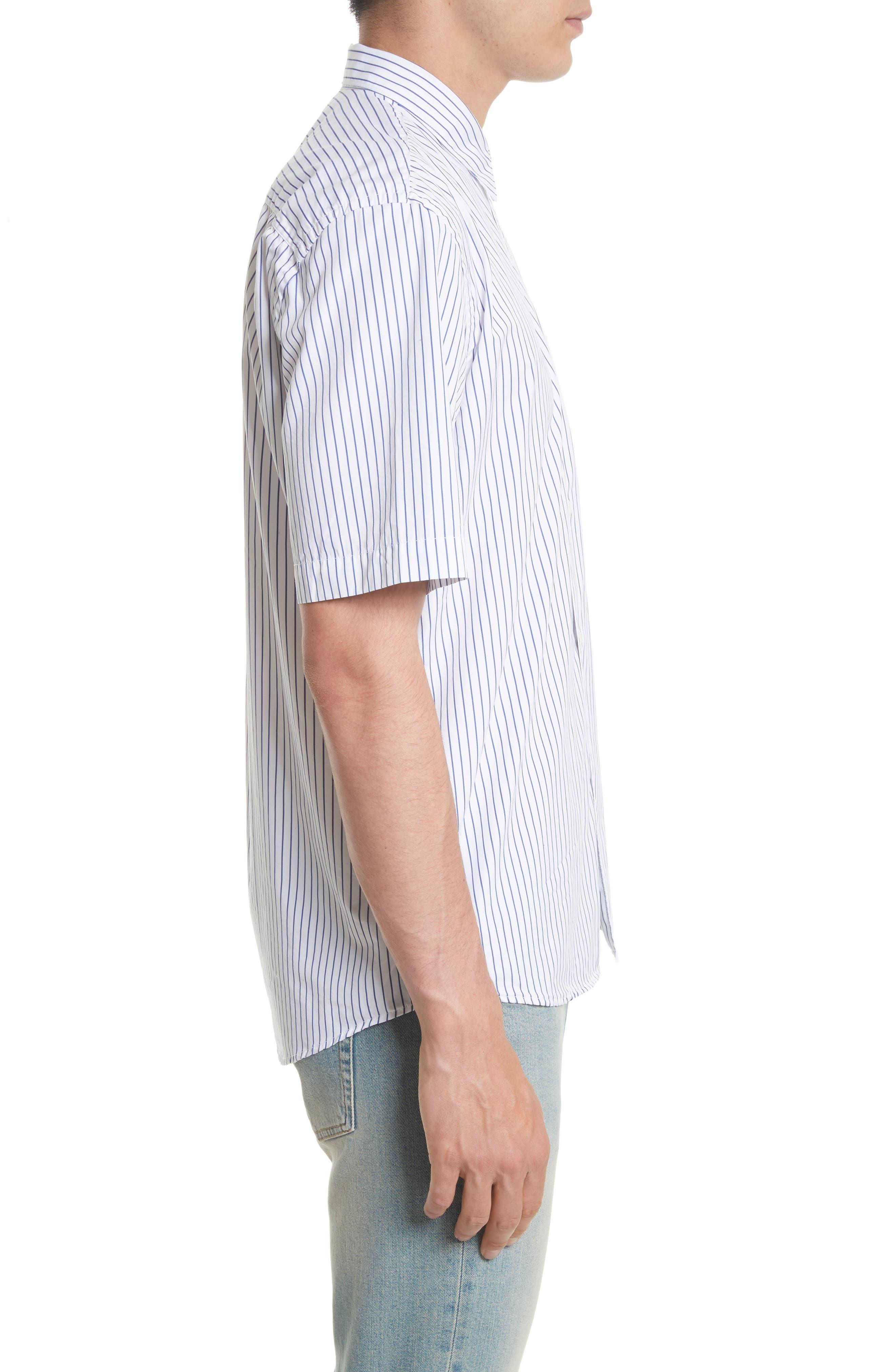 Stripe Short Sleeve Sport Shirt,                             Alternate thumbnail 4, color,                             400