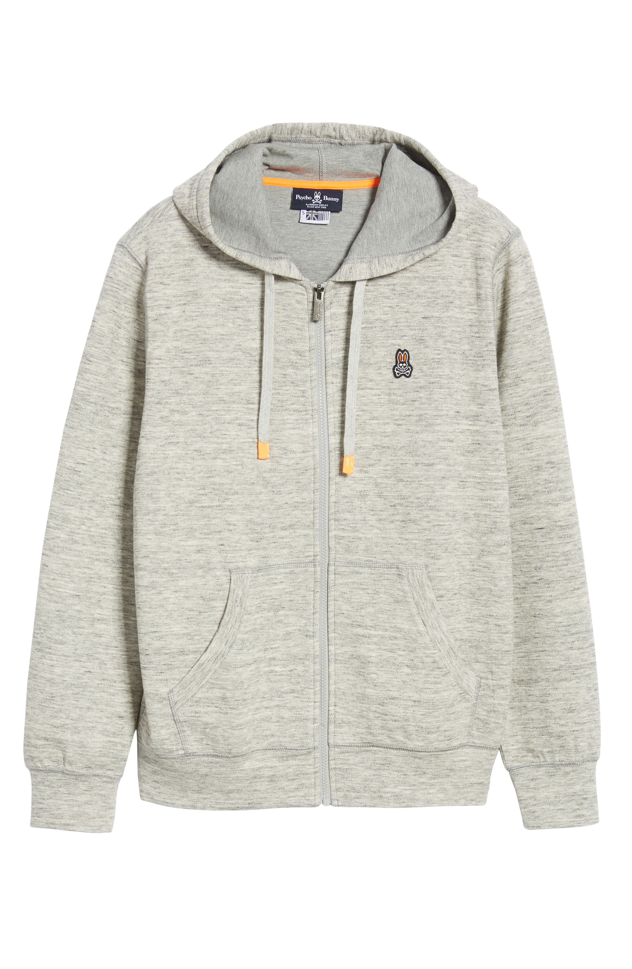 Newry Double Face Zip Hoodie,                             Alternate thumbnail 6, color,                             HEATHER GREY