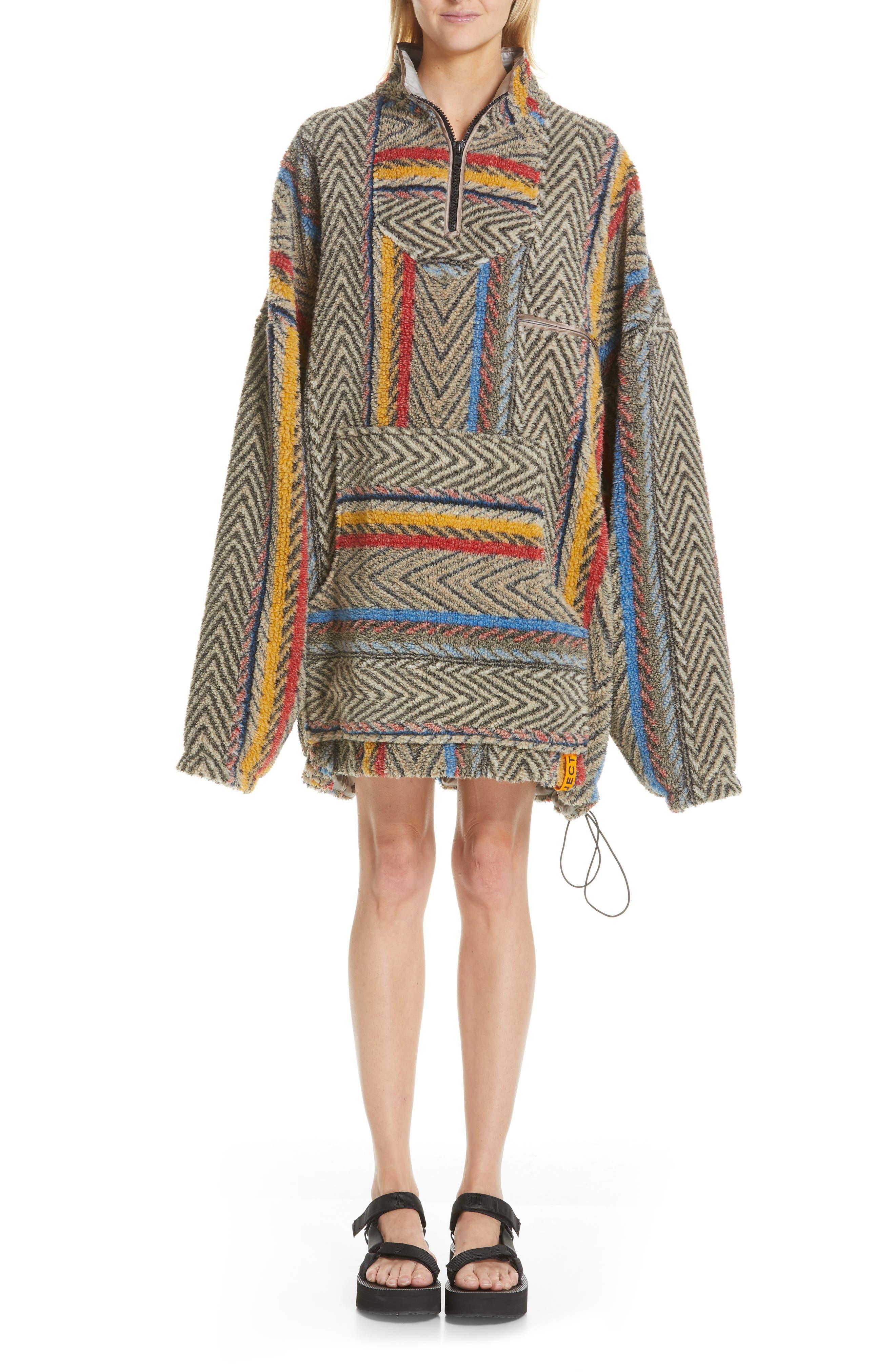 Y/project Half Zip Fleece Jacket, Grey