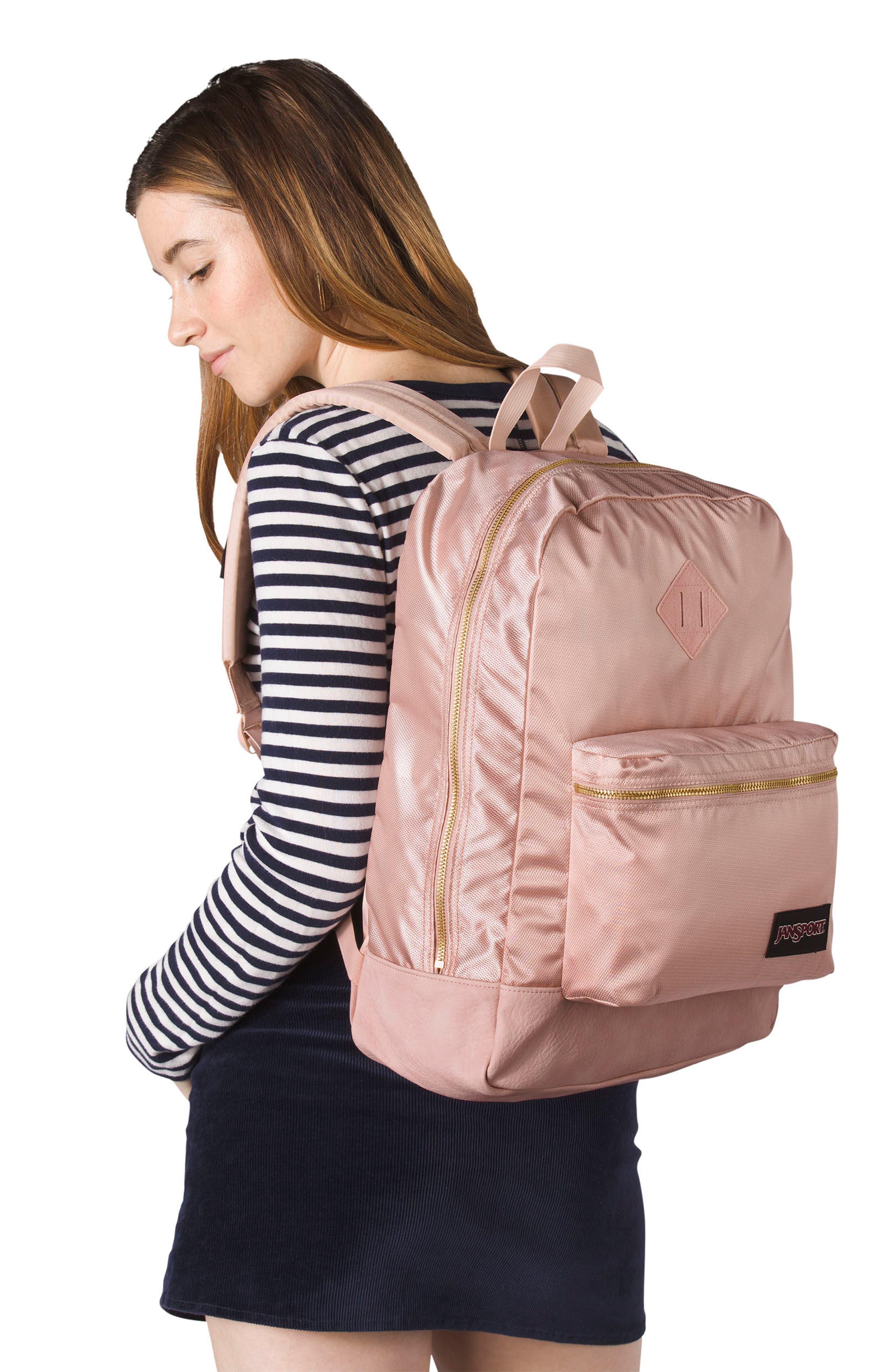 Super FX Gym Backpack,                             Alternate thumbnail 4, color,                             ROSE SMOKE GOLD