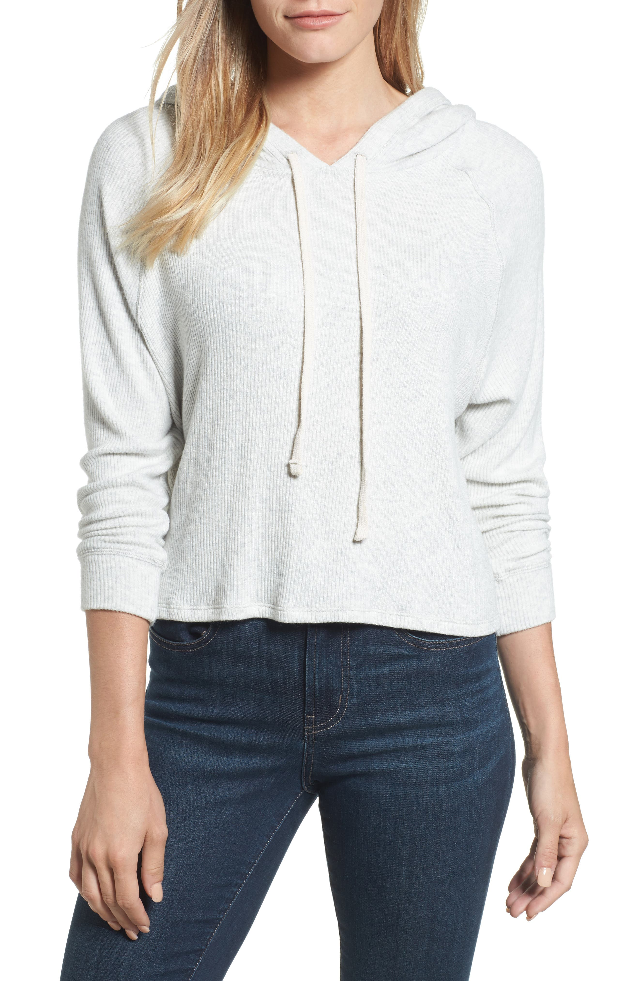 Cozy Ribbed Hoodie,                         Main,                         color, 905