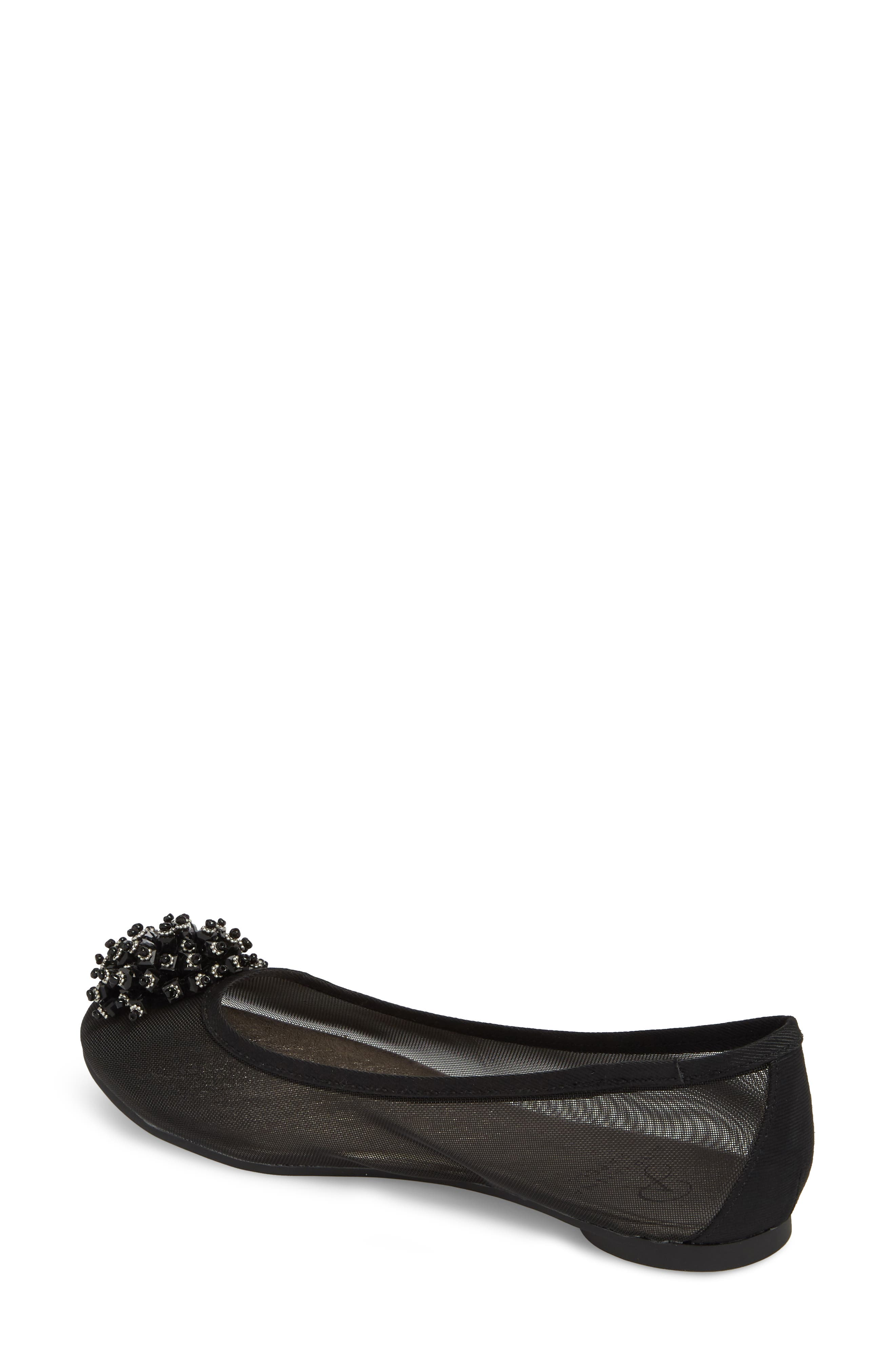 ADRIANNA PAPELL,                             Stevie Embellished Flat,                             Alternate thumbnail 2, color,                             001