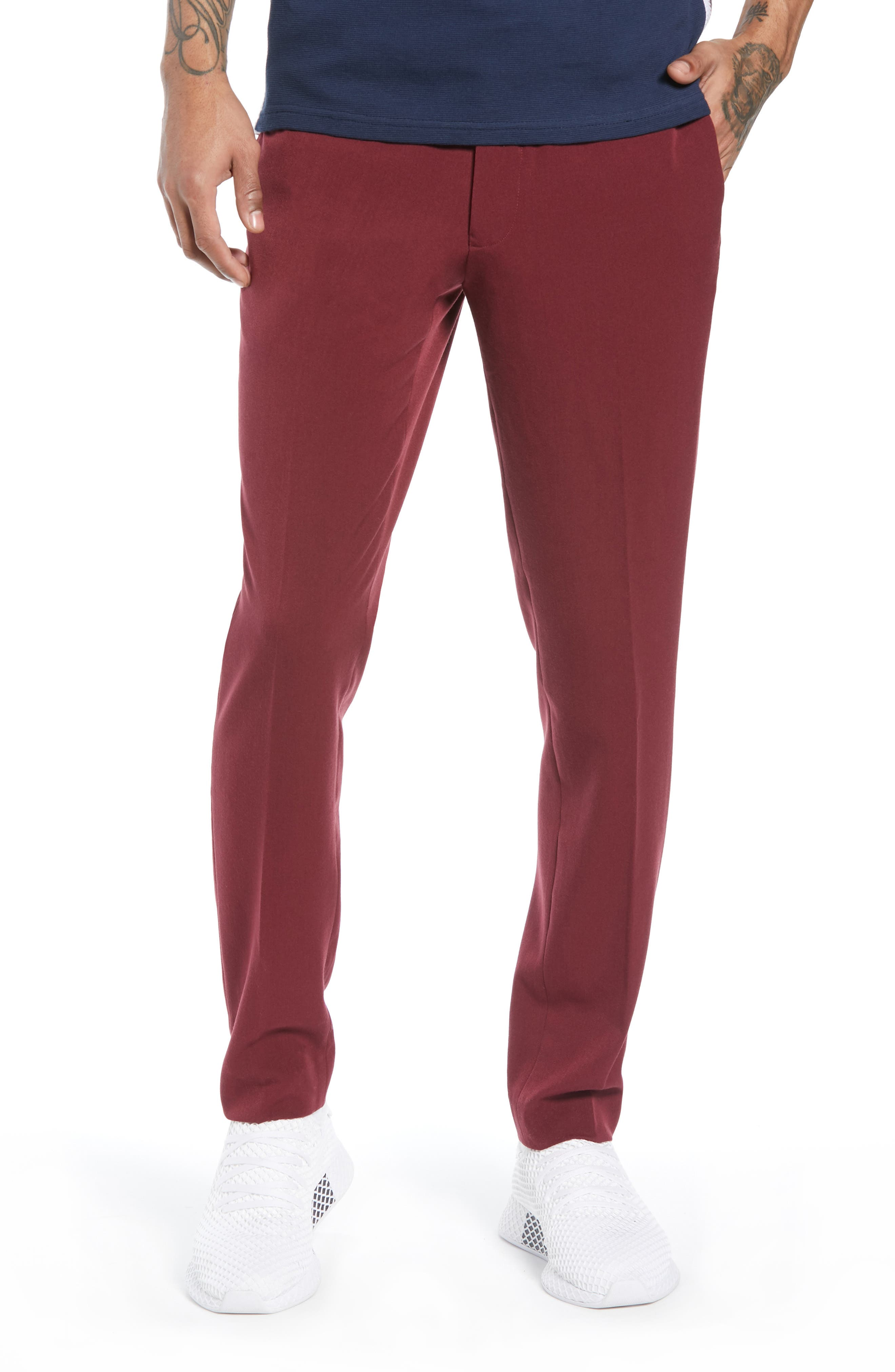 Skinny Fit Trousers,                             Main thumbnail 1, color,                             PURPLE