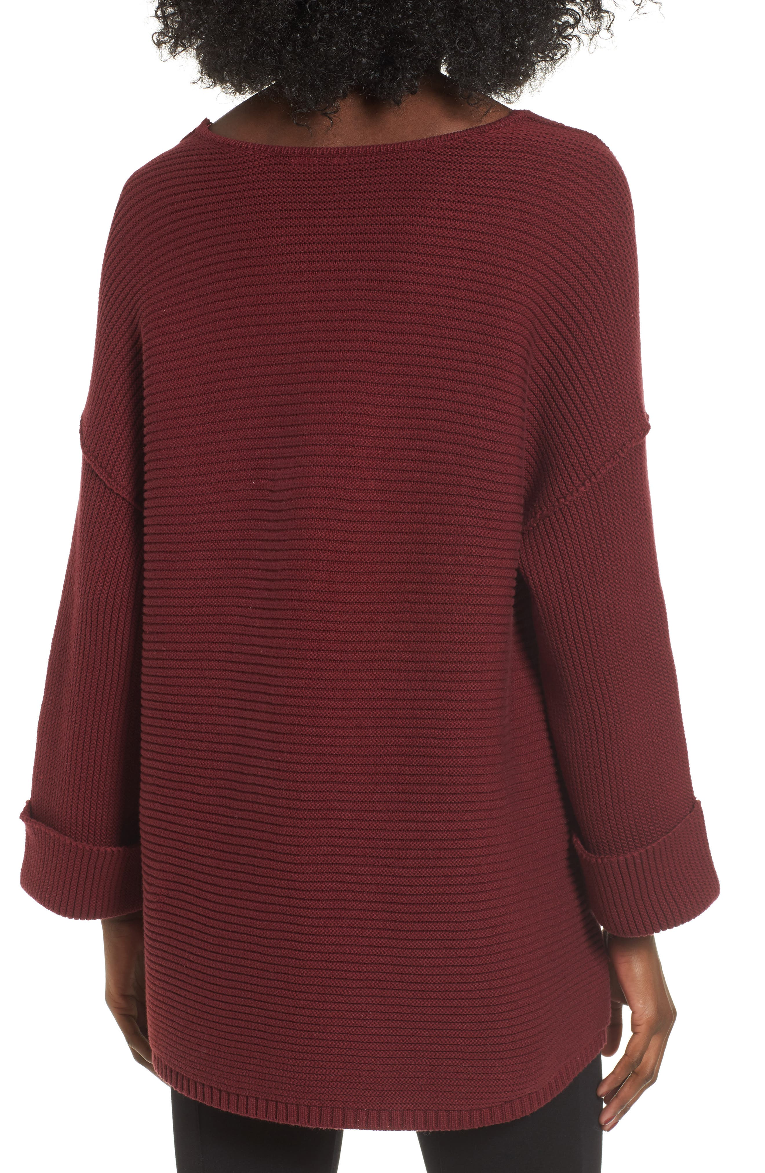 Cuff Sleeve Pullover,                             Alternate thumbnail 4, color,