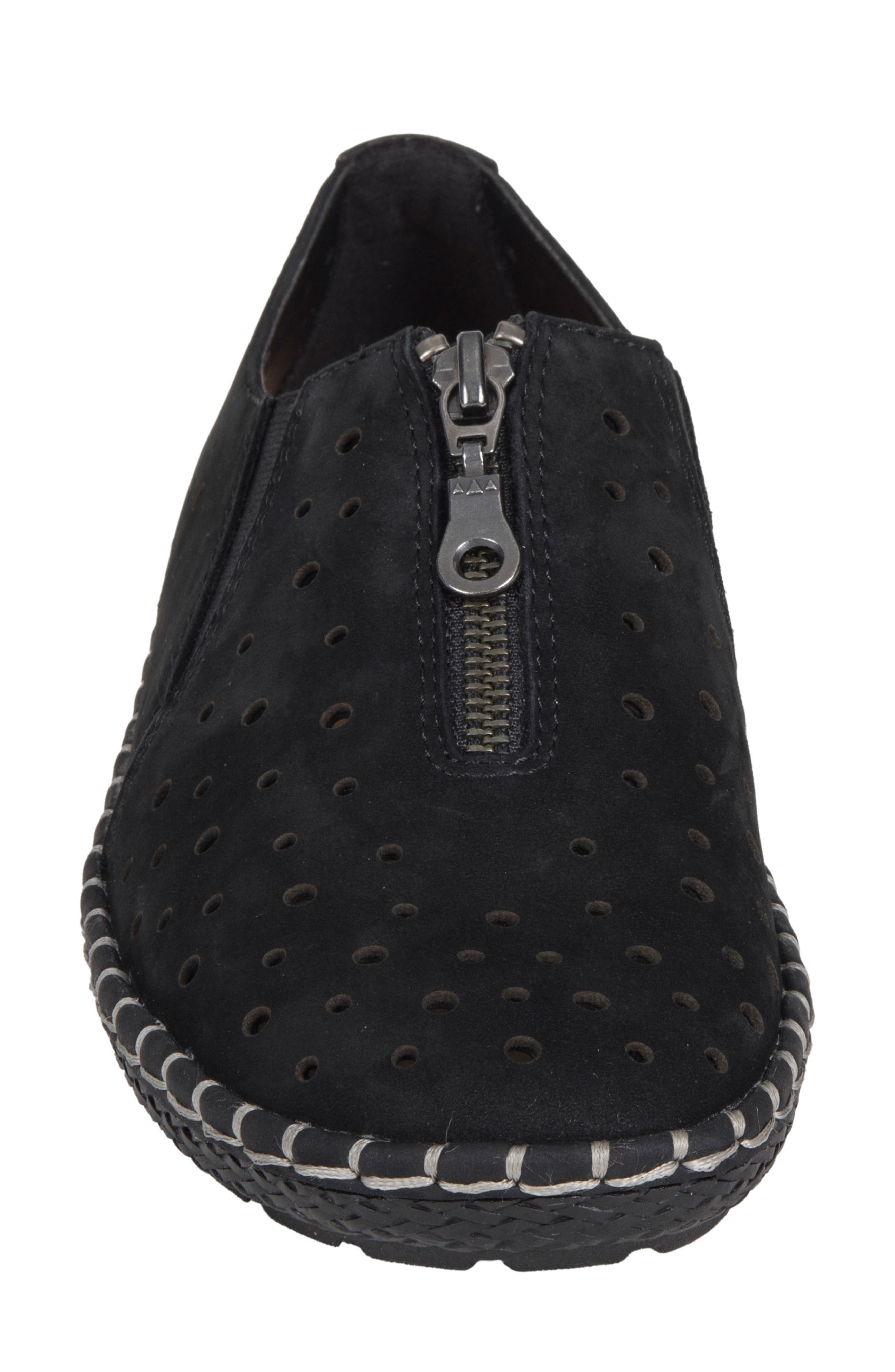 Callisto Perforated Zip Moccasin,                             Alternate thumbnail 4, color,                             001
