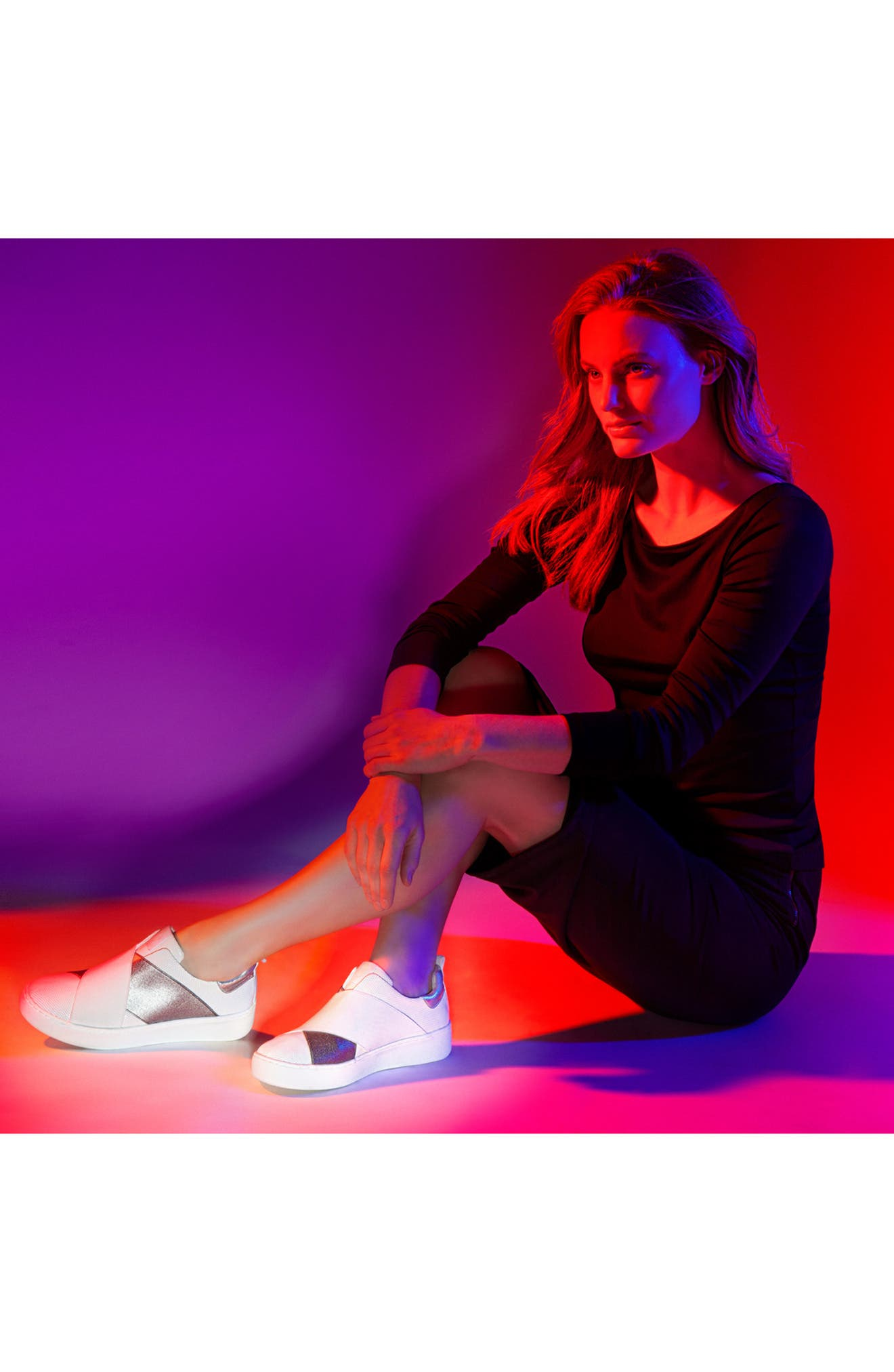 Coley Platform Slip-On Sneaker,                             Alternate thumbnail 8, color,                             001