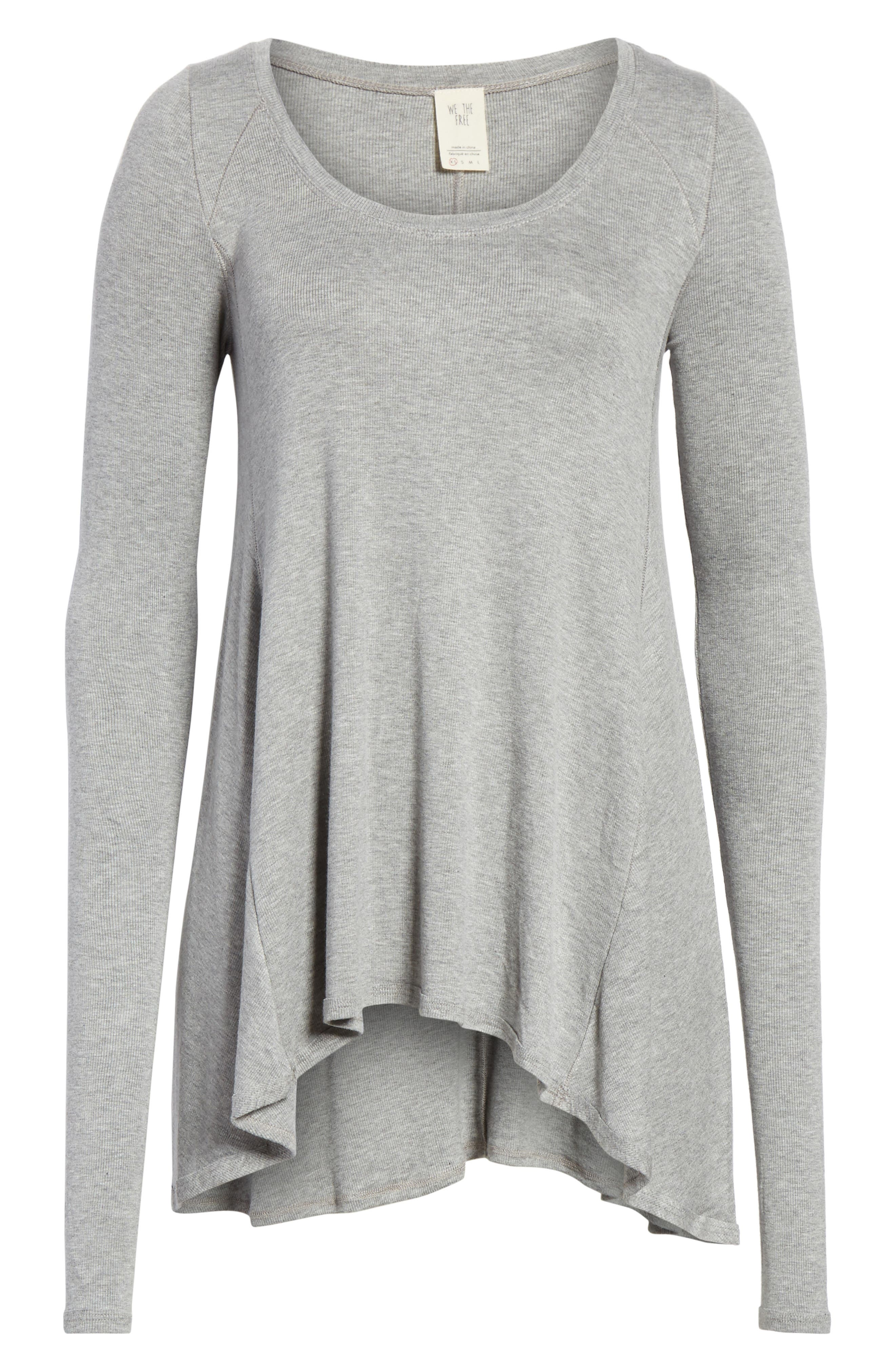 We the Free by Free People January Tee,                             Alternate thumbnail 6, color,                             GREY