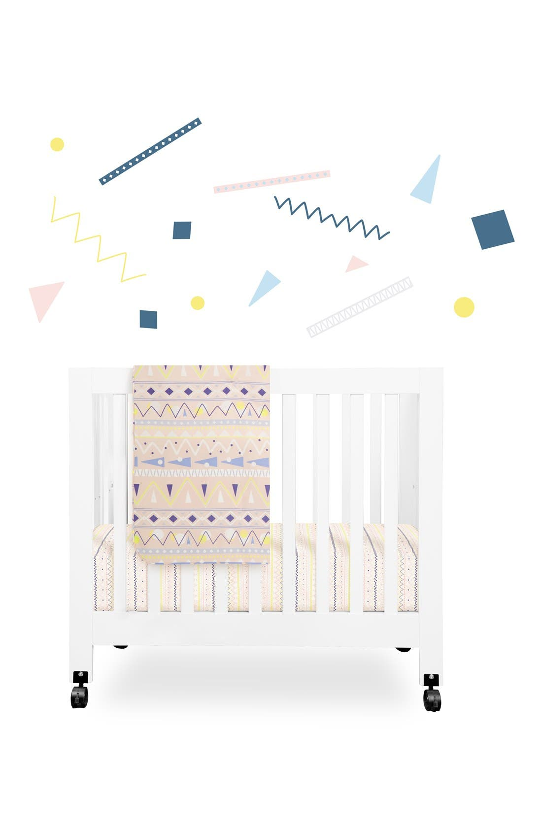 'Desert' Mini Crib Sheet, Changing Pad Cover, Stroller Blanket & Wall Decals,                             Main thumbnail 1, color,                             OFF WHITE