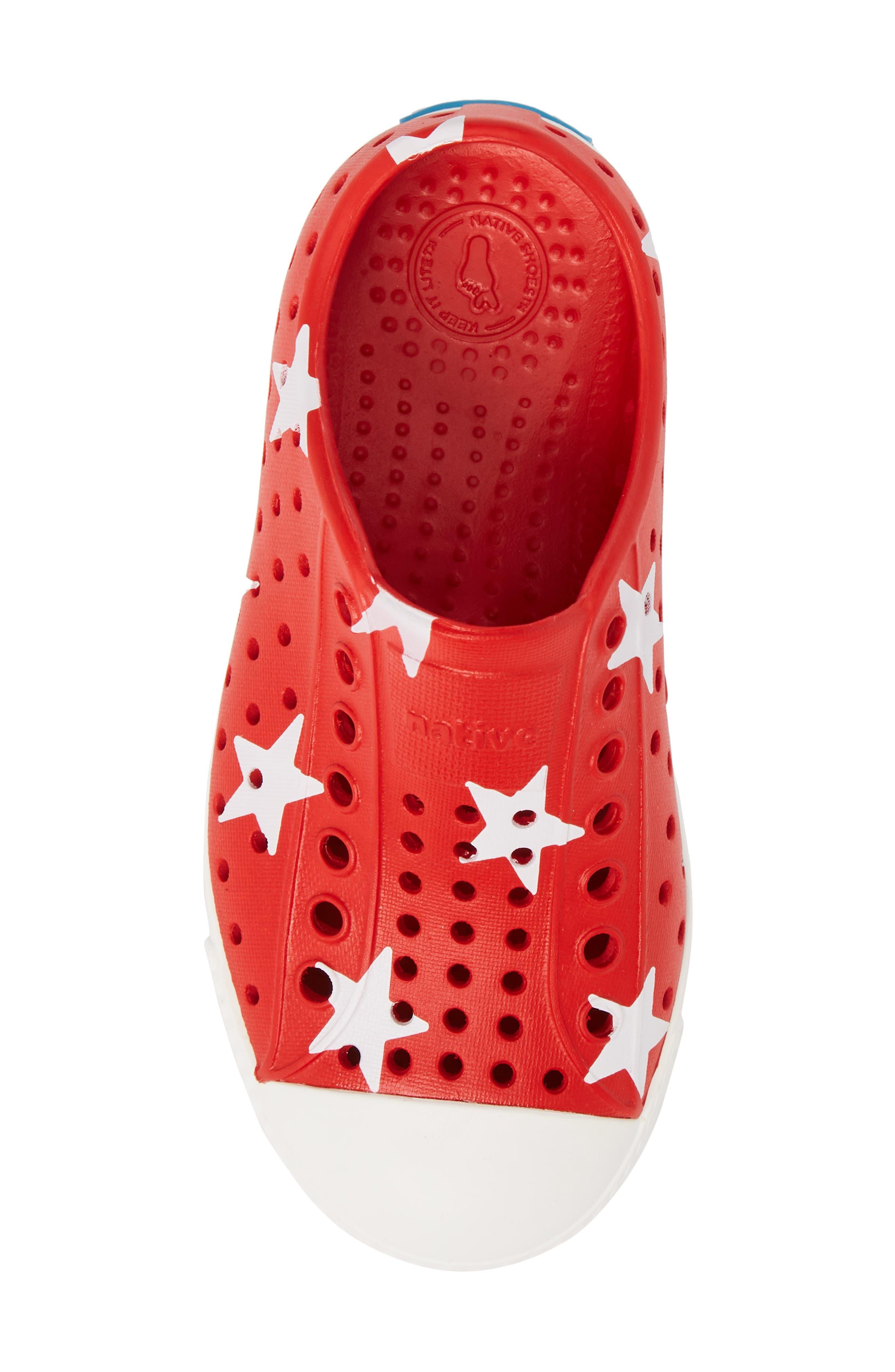 Jefferson Quartz Slip-On Sneaker,                             Alternate thumbnail 5, color,                             TORCH RED/ BONE WHITE/ STAR