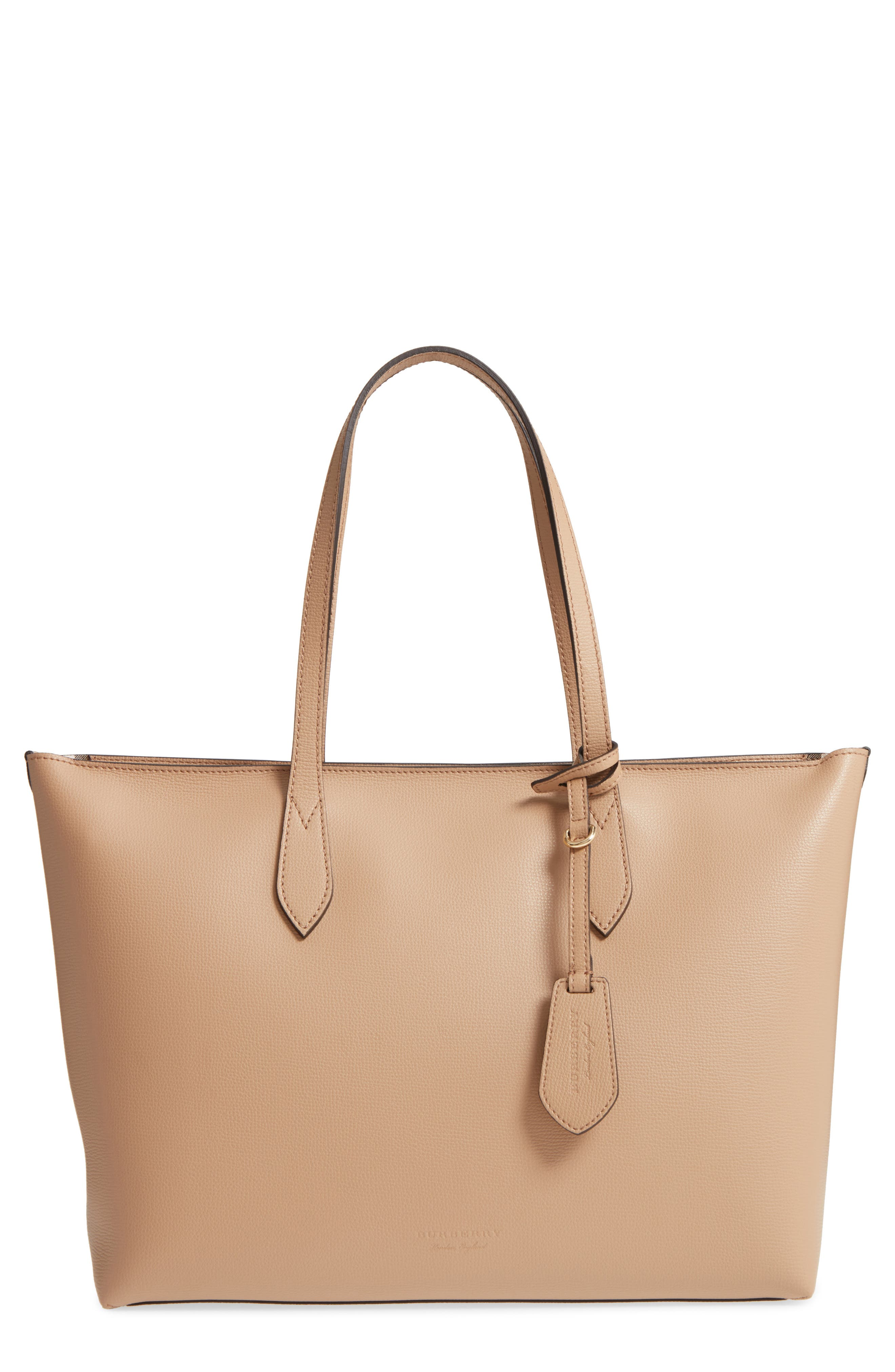 Calfskin Leather Tote,                         Main,                         color, 267