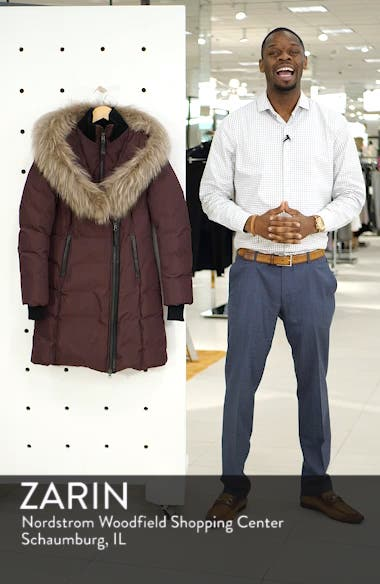 800 Fill Power Down Coat with Genuine Fox Fur Trim, sales video thumbnail