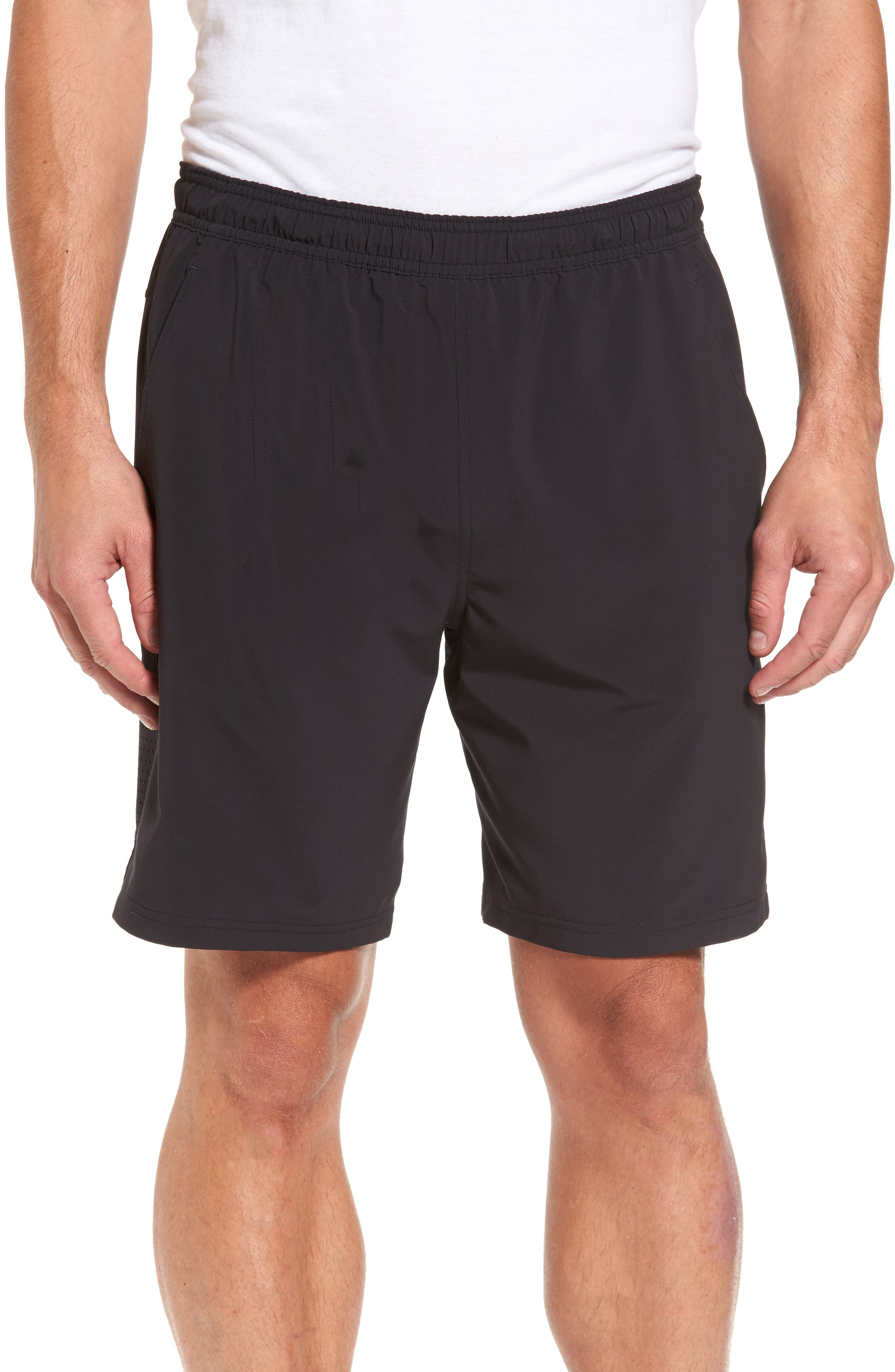 Graphite Core Athletic Shorts,                             Main thumbnail 1, color,                             BLACK