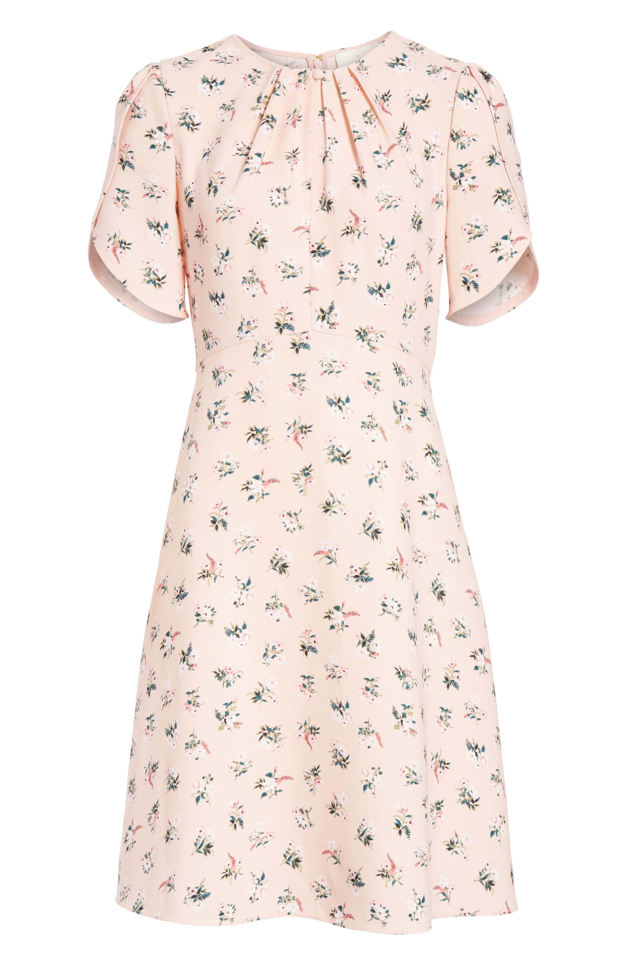 flora tulip sleeve dress,                             Alternate thumbnail 6, color,                             663