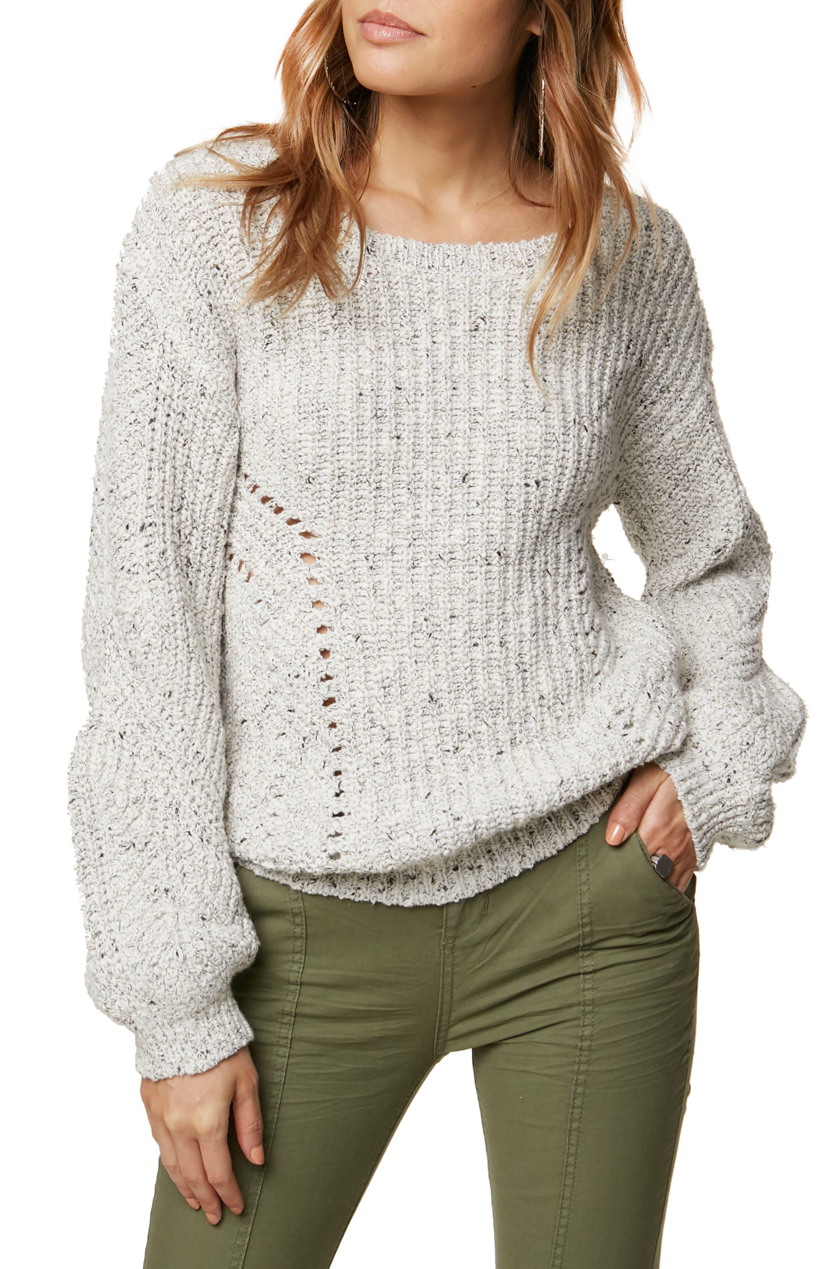 Sailor Cotton Blend Sweater,                             Main thumbnail 1, color,                             100