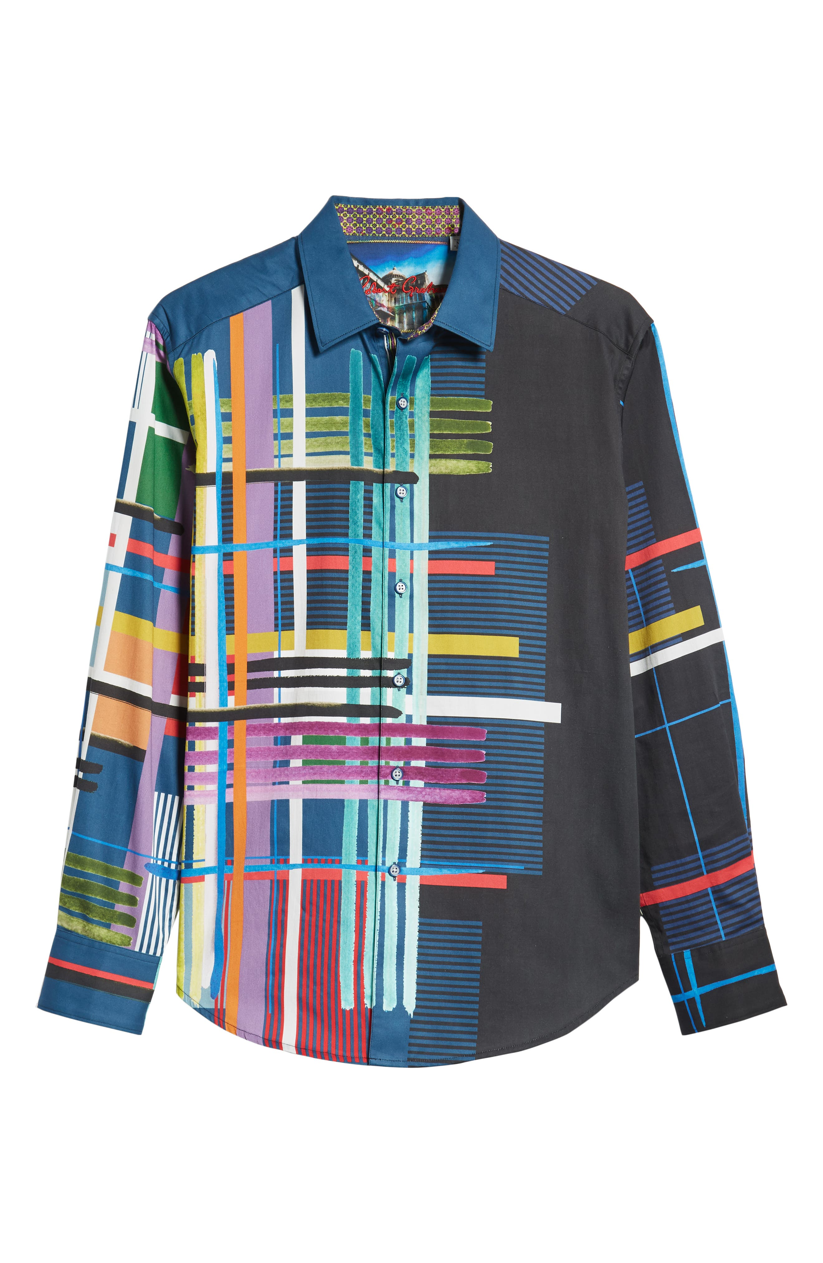 Robinson Classic Fit Sport Shirt,                             Alternate thumbnail 5, color,                             001
